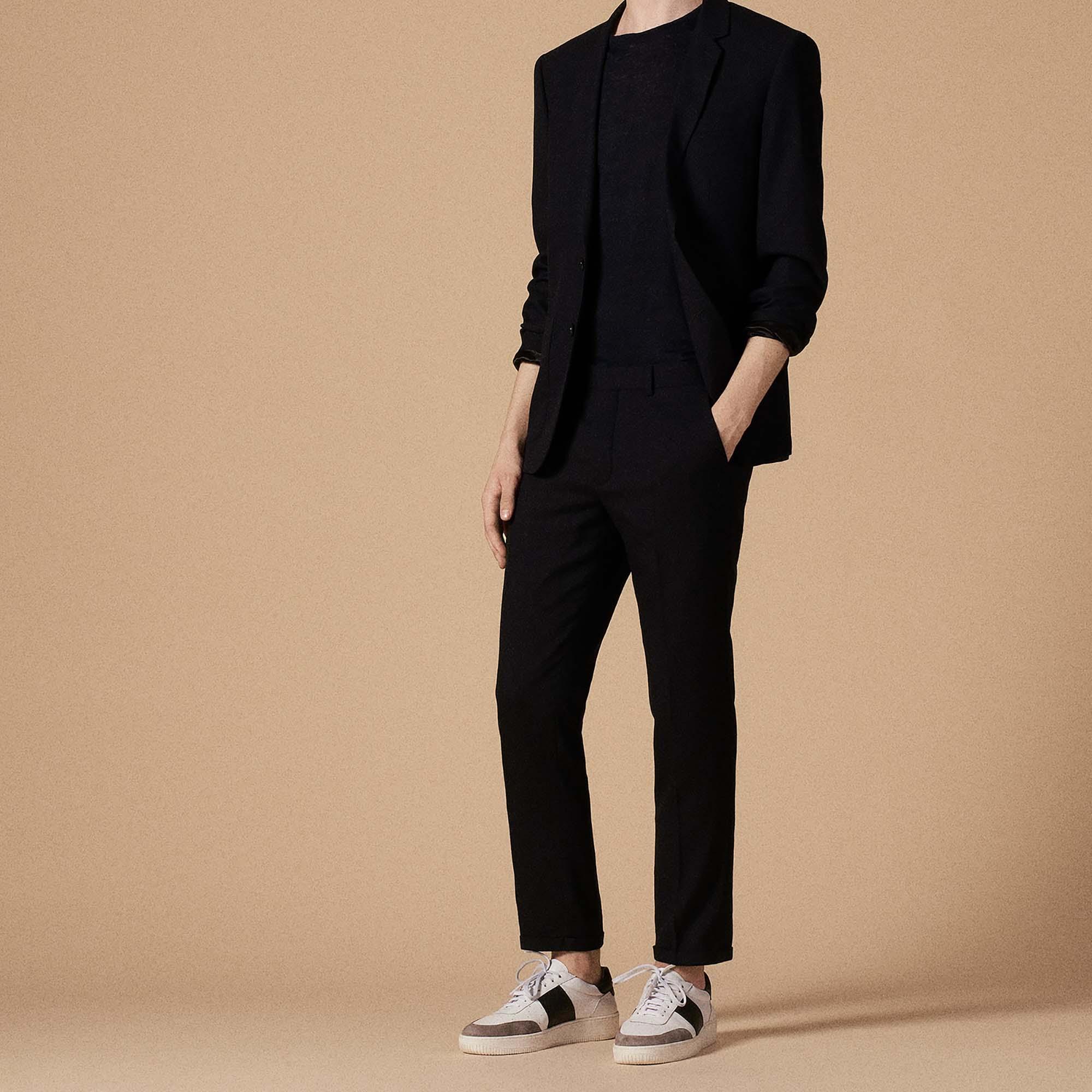 Pantaloni da completo slim fit : Abiti & Smoking colore Blu Marino