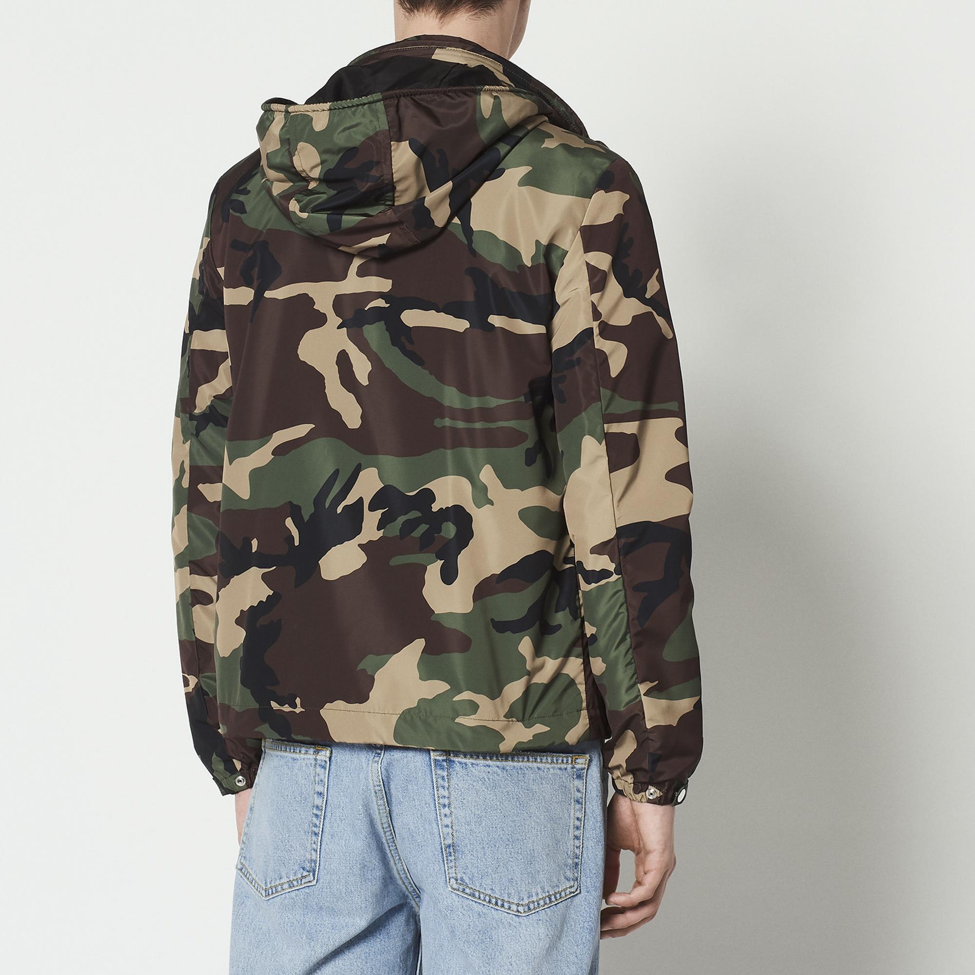 Giacca a vento con stampa camouflage : Collezione Estiva colore Cachi