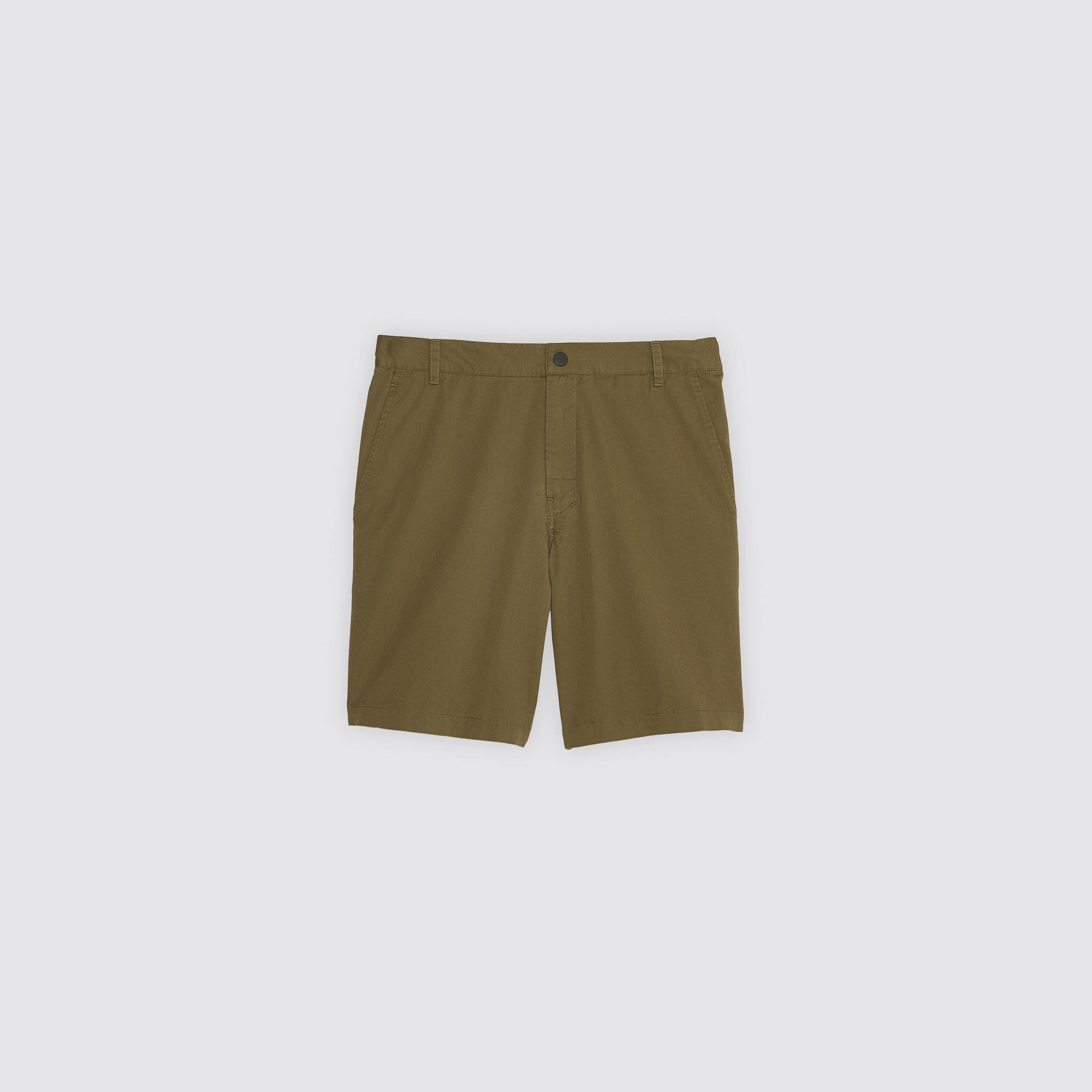 Bermuda da città con linea dritta : Pantaloni & Short colore Cachi