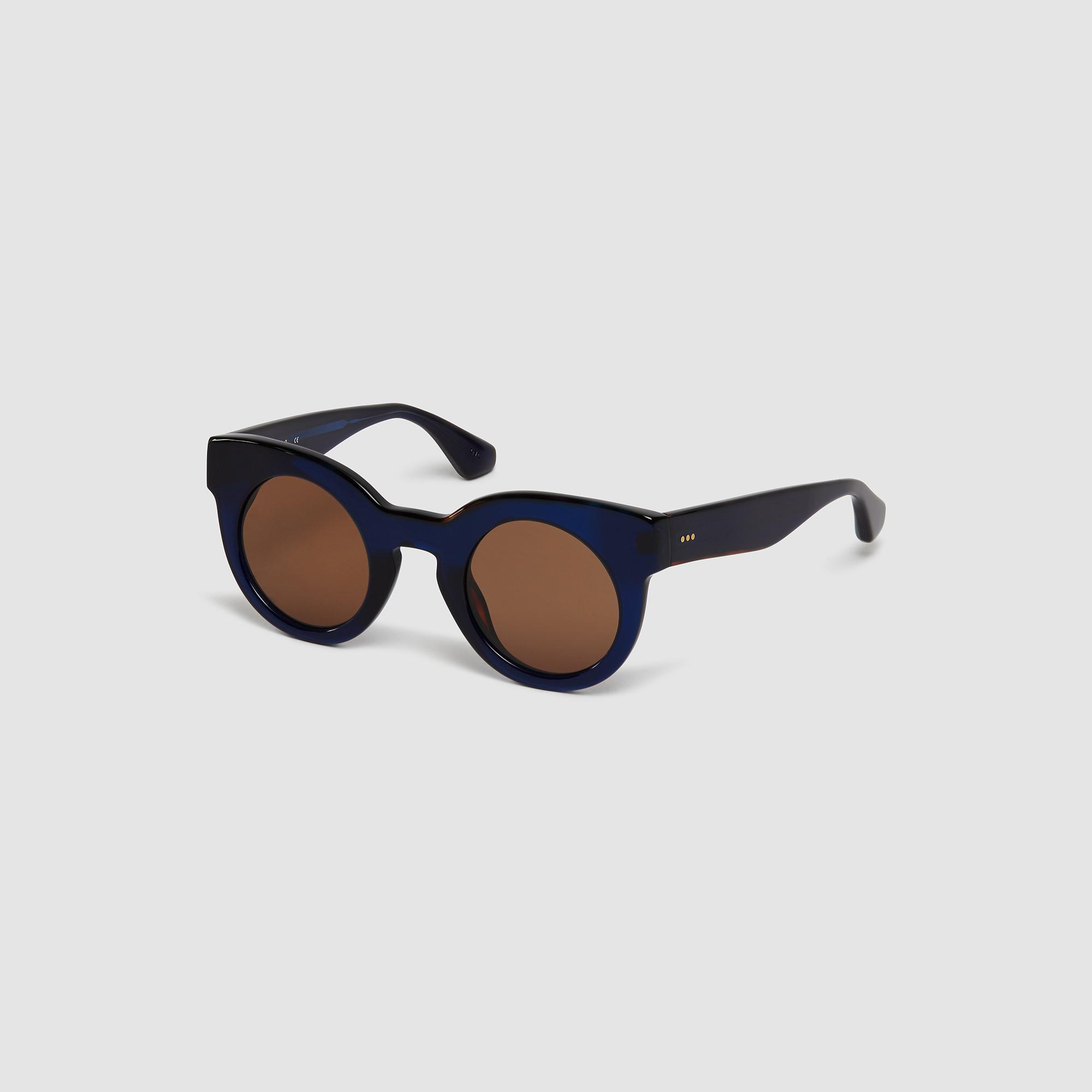 OCCHIALI ROTONDI OVERSIZE : Occhiali da sole colore Blu Marino