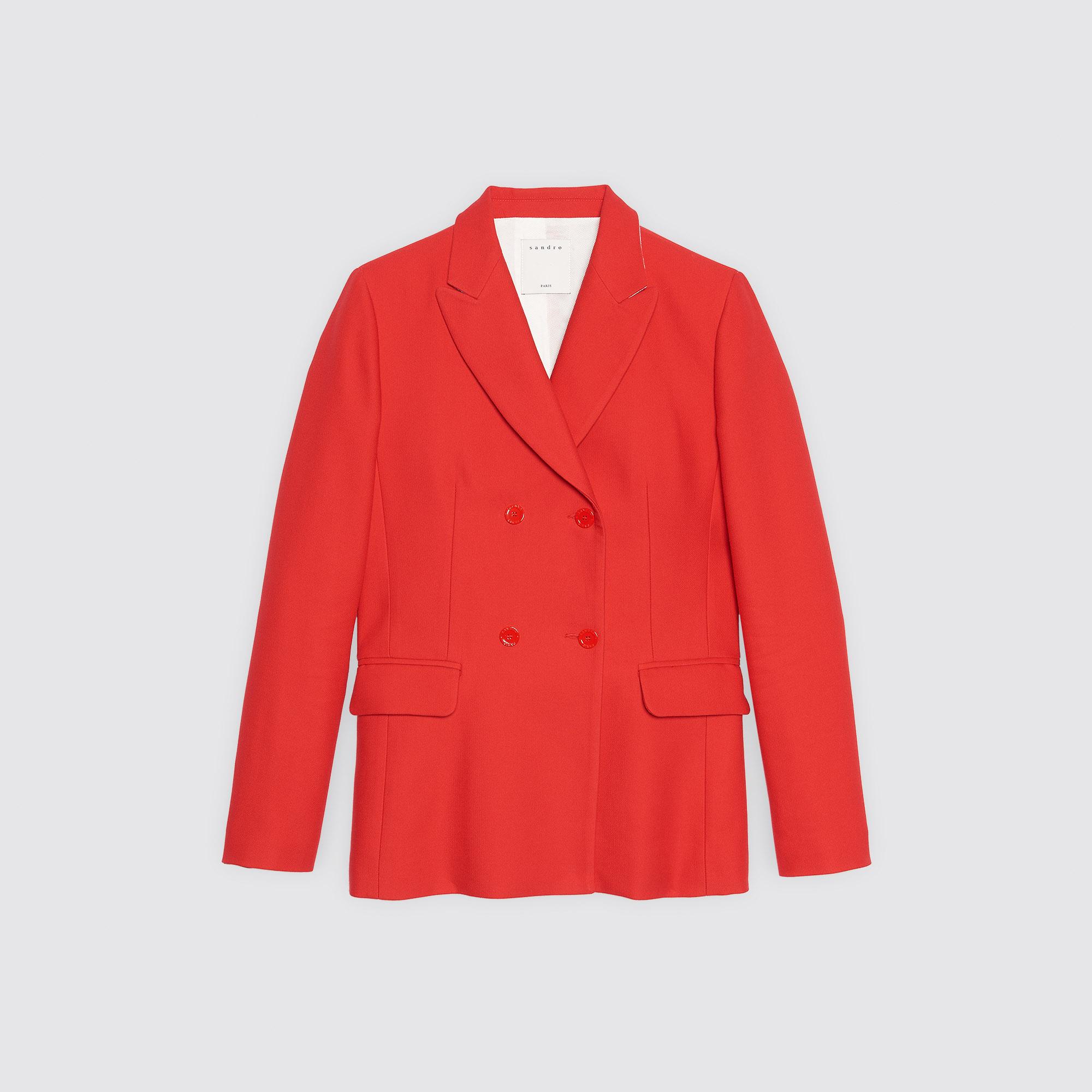 Giacca con doppia abbottonatura : Collezione Estiva colore Rouge écarlate