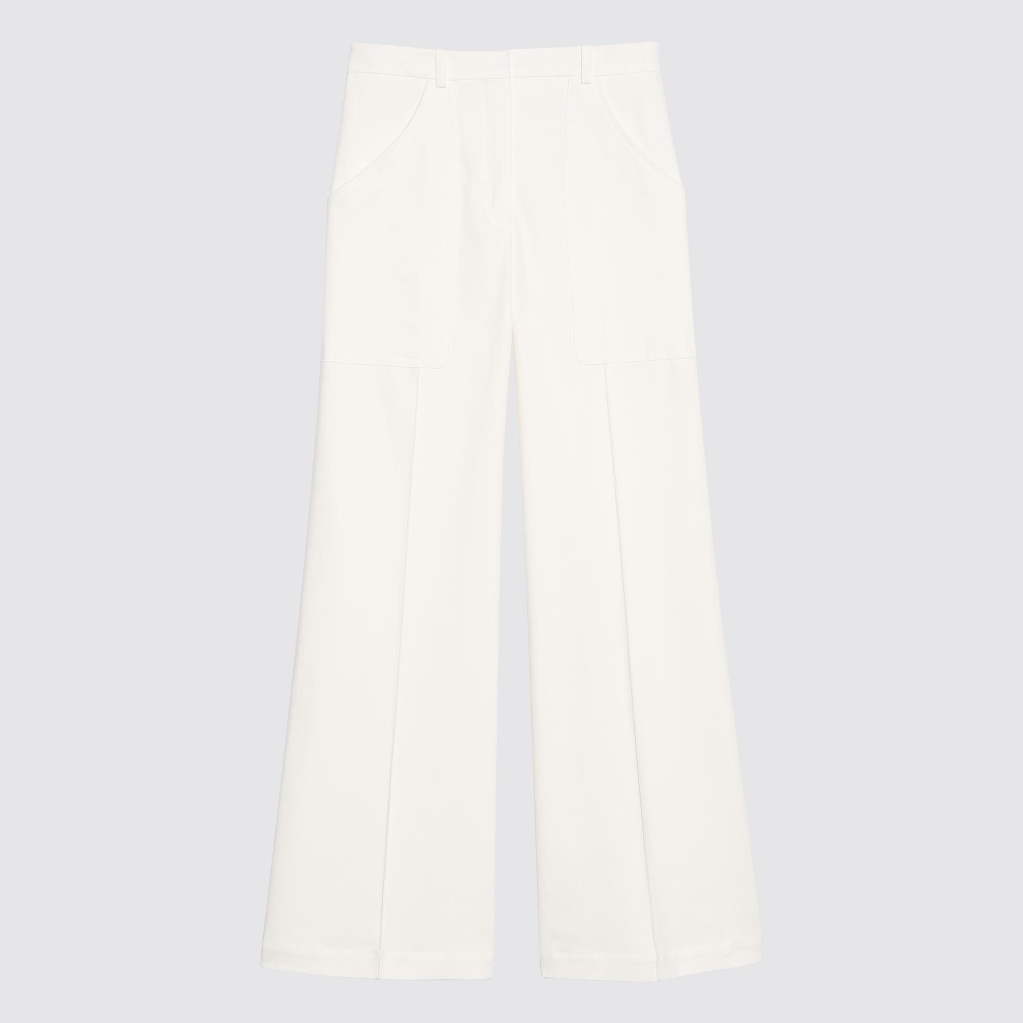 Pantaloni svasati : Pantaloni colore Ecru