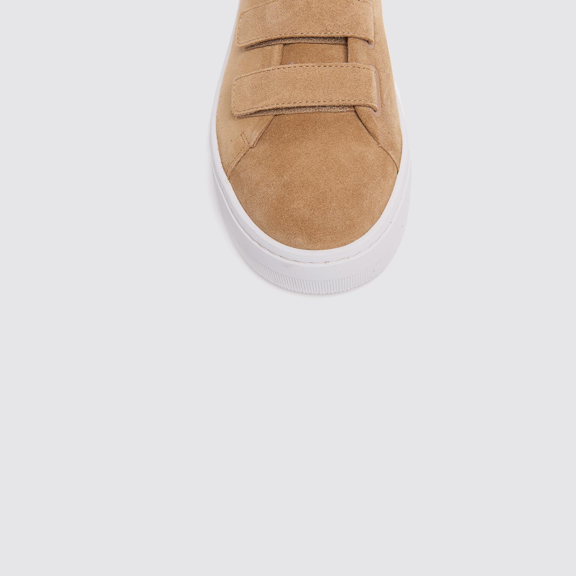 Sneaker in pelle con chiusura velcro : Sneaker colore Ambre