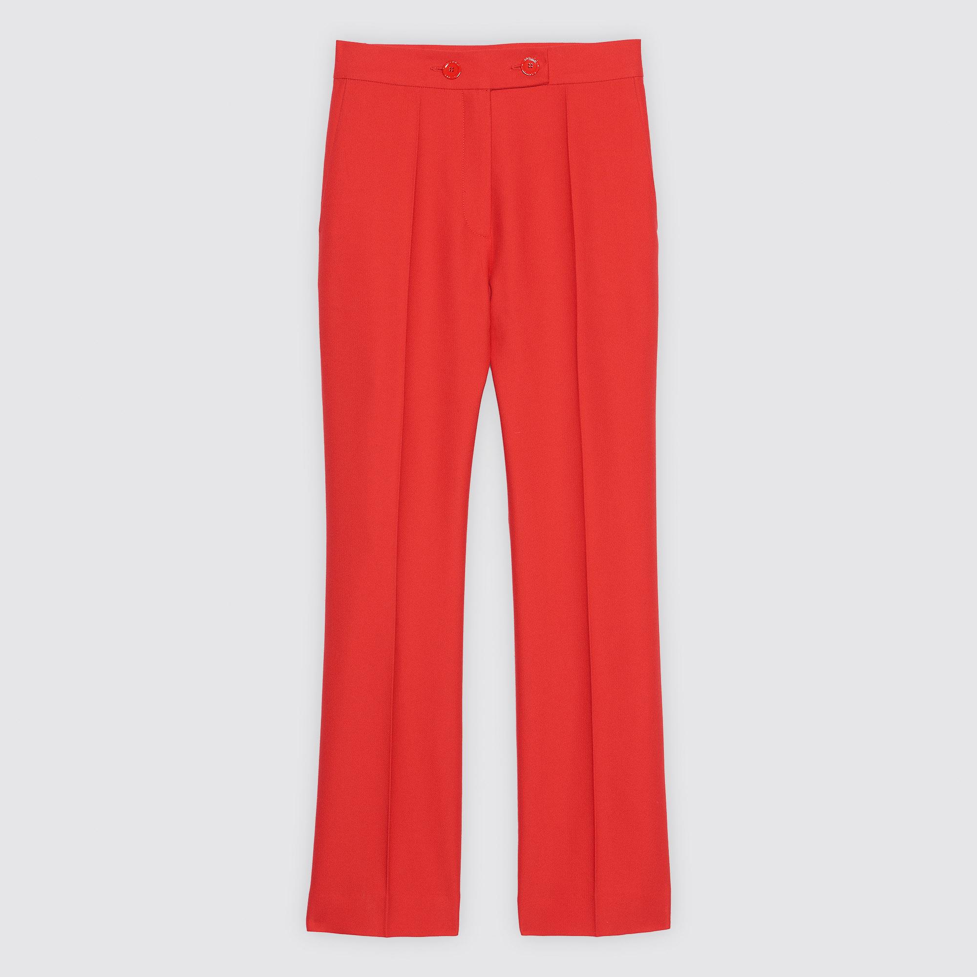 Pantaloni con doppia abbottonatura : Collezione Estiva colore Rouge écarlate