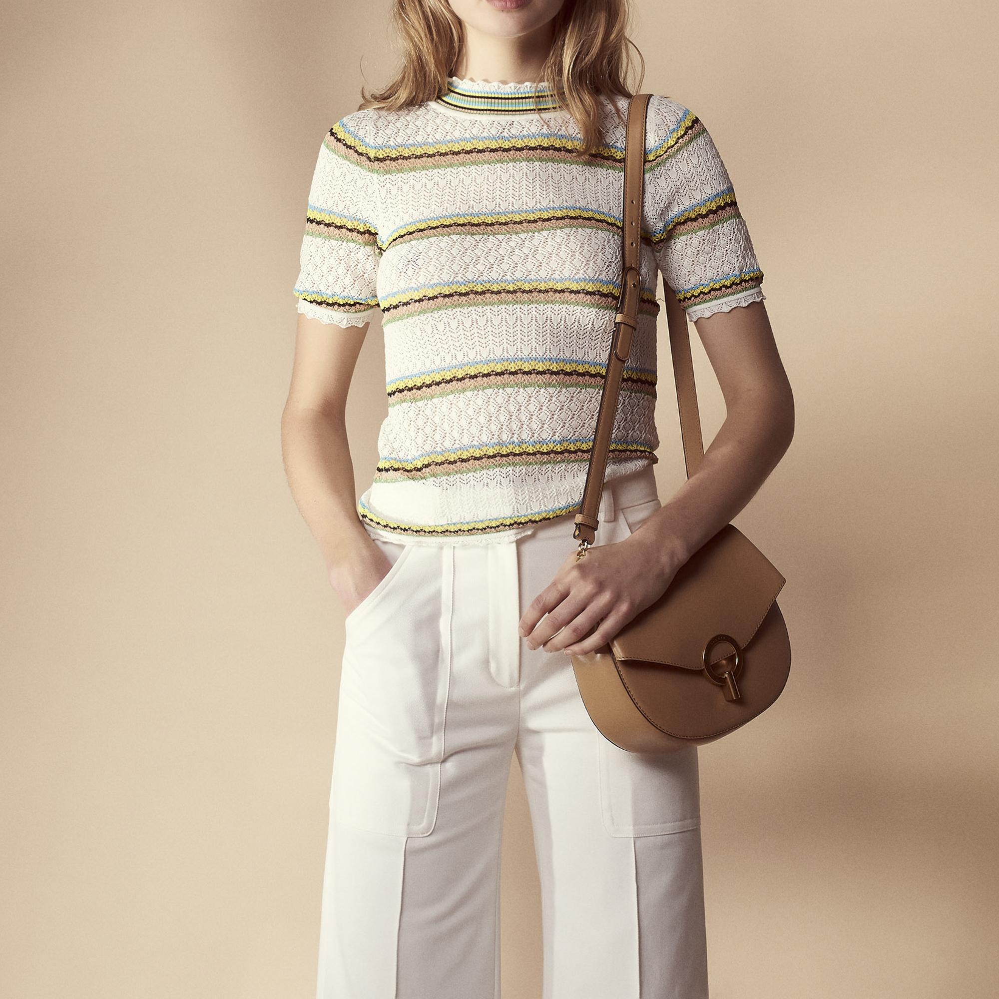 Pullover in misto cotone maglia fantasia : Collezione Estiva colore Bianco