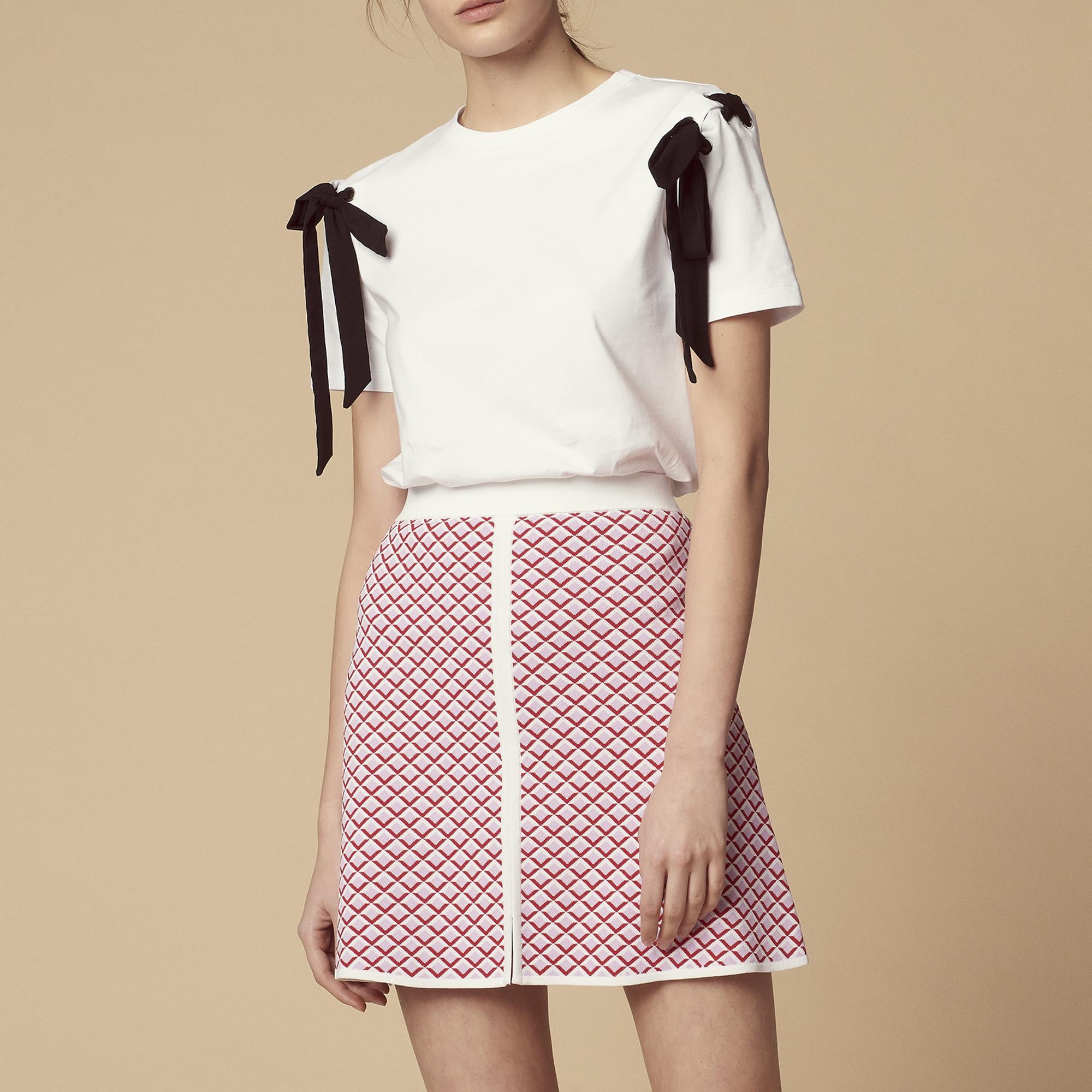 Gonna corta in maglia : Gonne & Short colore Rosa