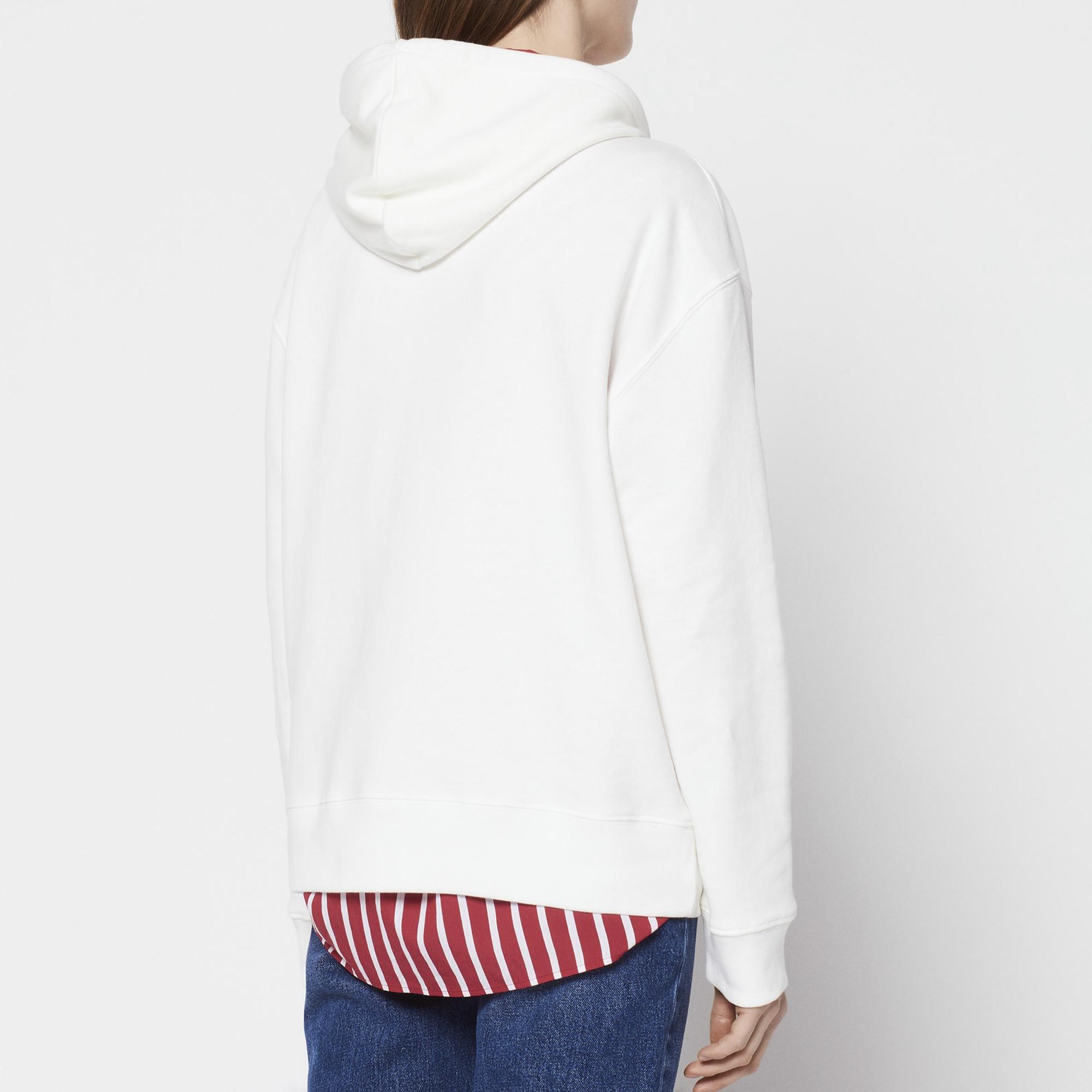 Felpa con cappuccio Happening : Collezione Estiva colore Bianco