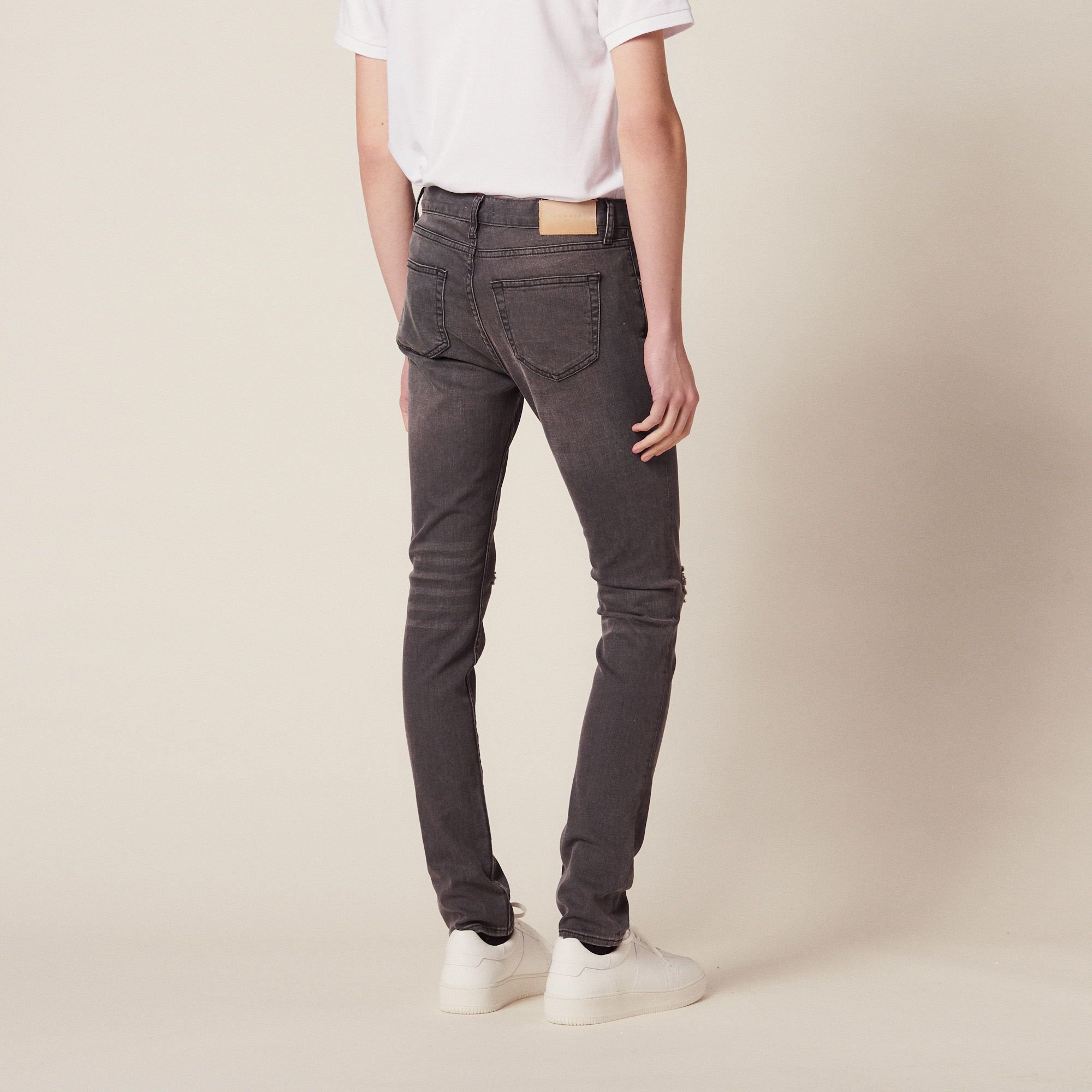 Jeans Destroy - Skinny : Jeans colore Grigio