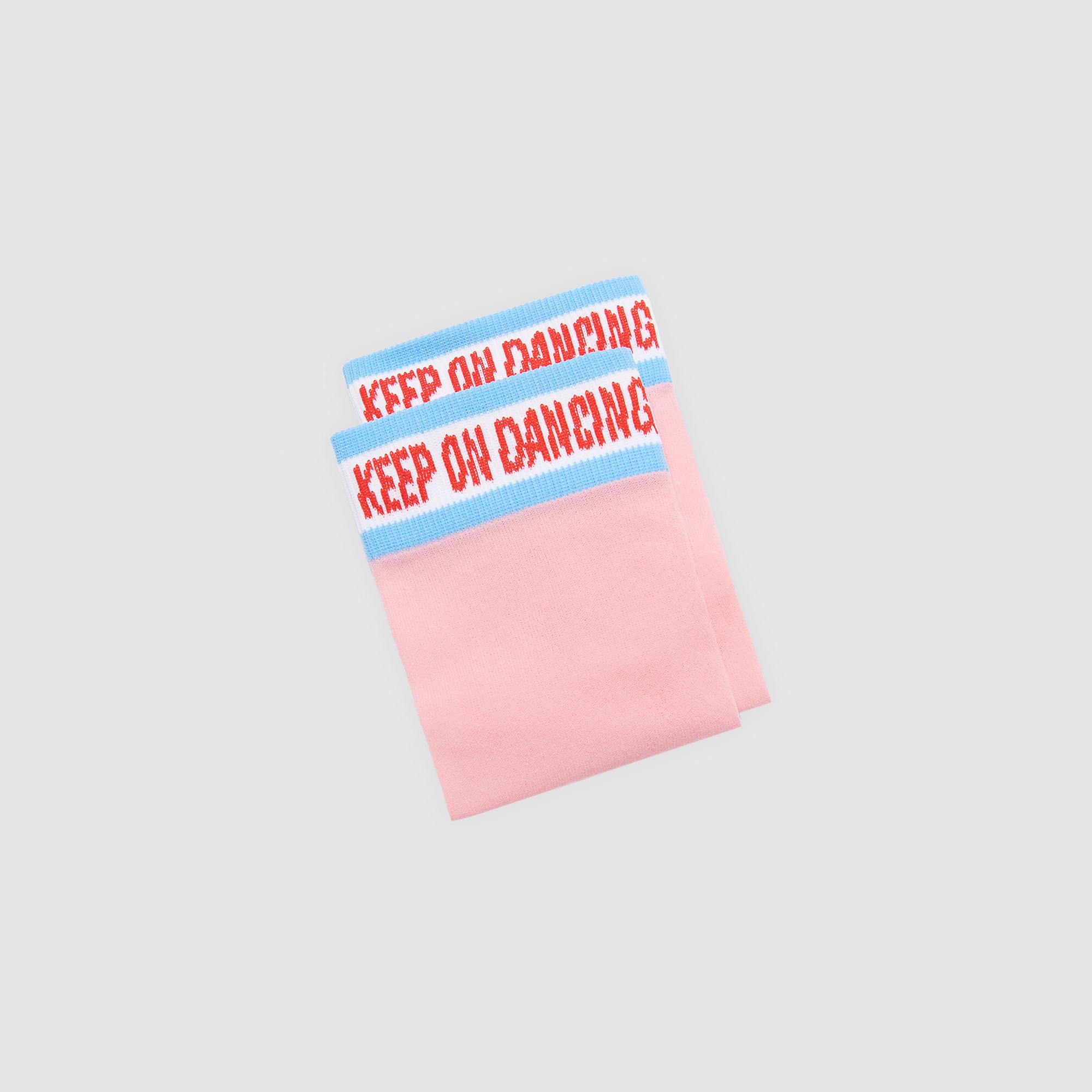 Calzini con scritta Keep on : Calze colore Rosa