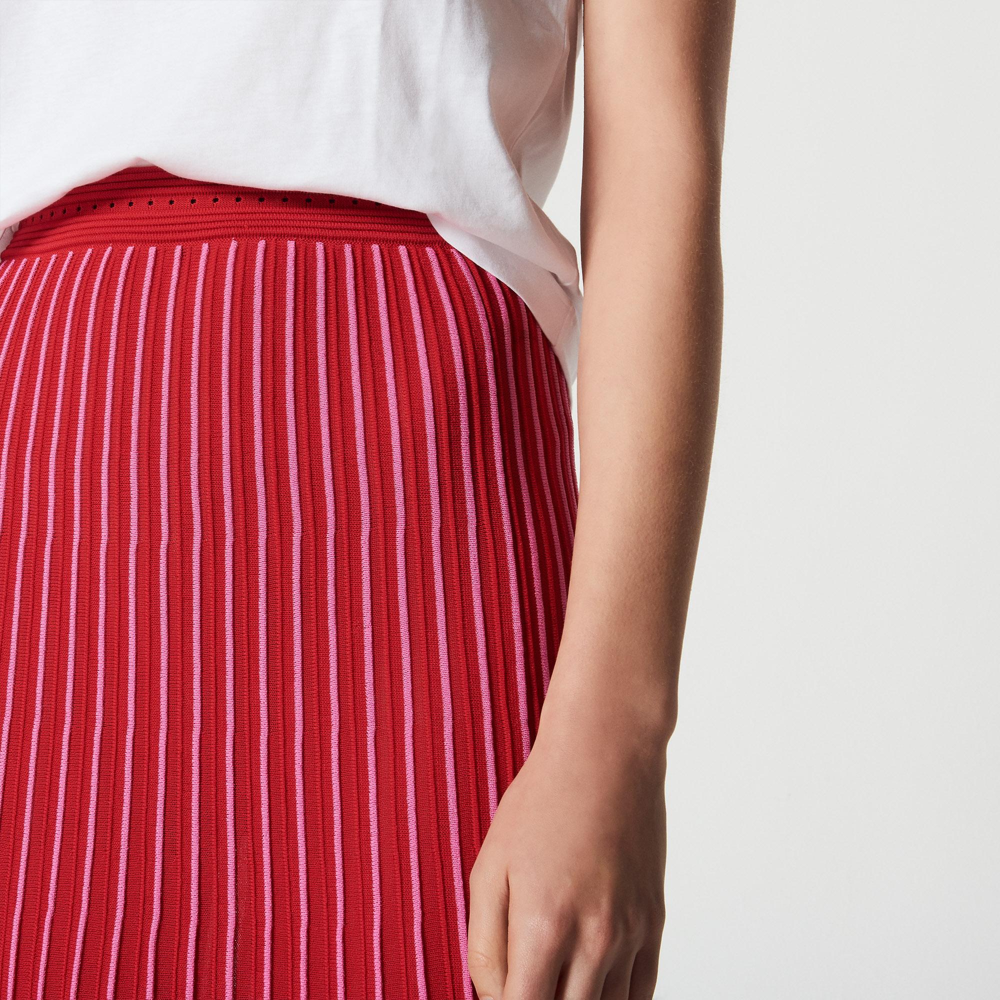 Gonna longuette in maglia bicolore : Collezione Estiva colore Rosso