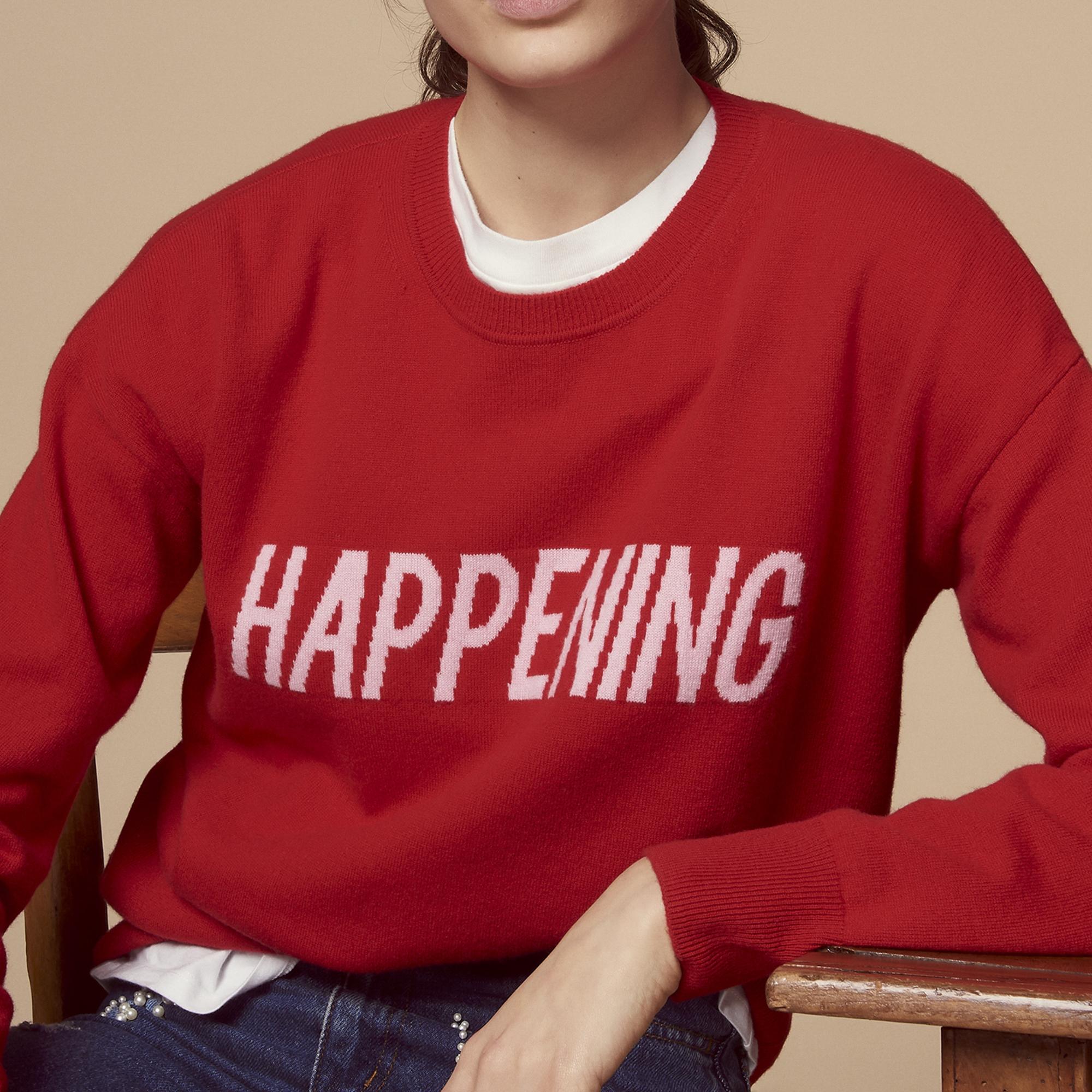 Pullover in lana e cashmere HAPPENING : Maglieria & Cardigan colore Rosso