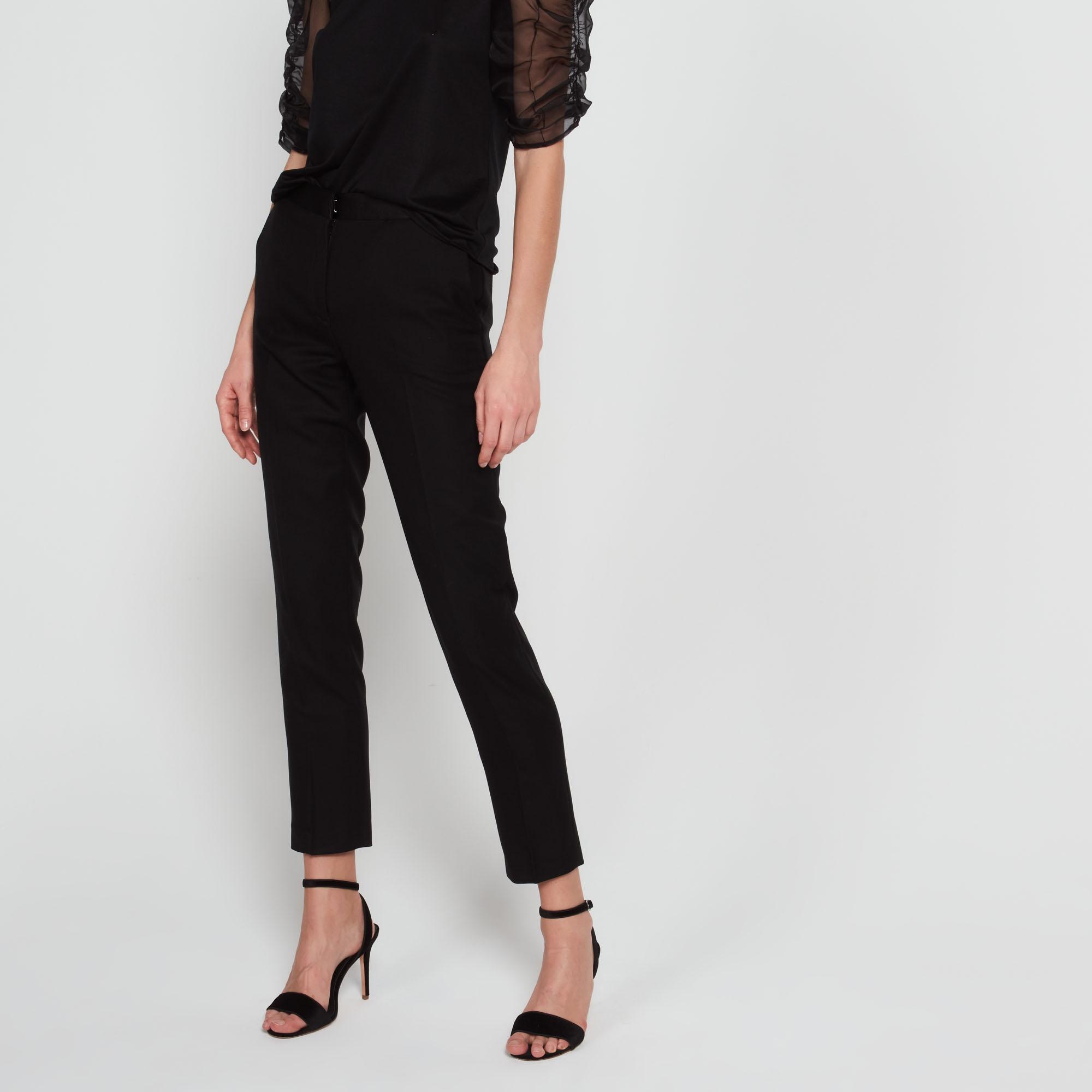 Pantaloni in lana con pince : Collezione Estiva colore Nero