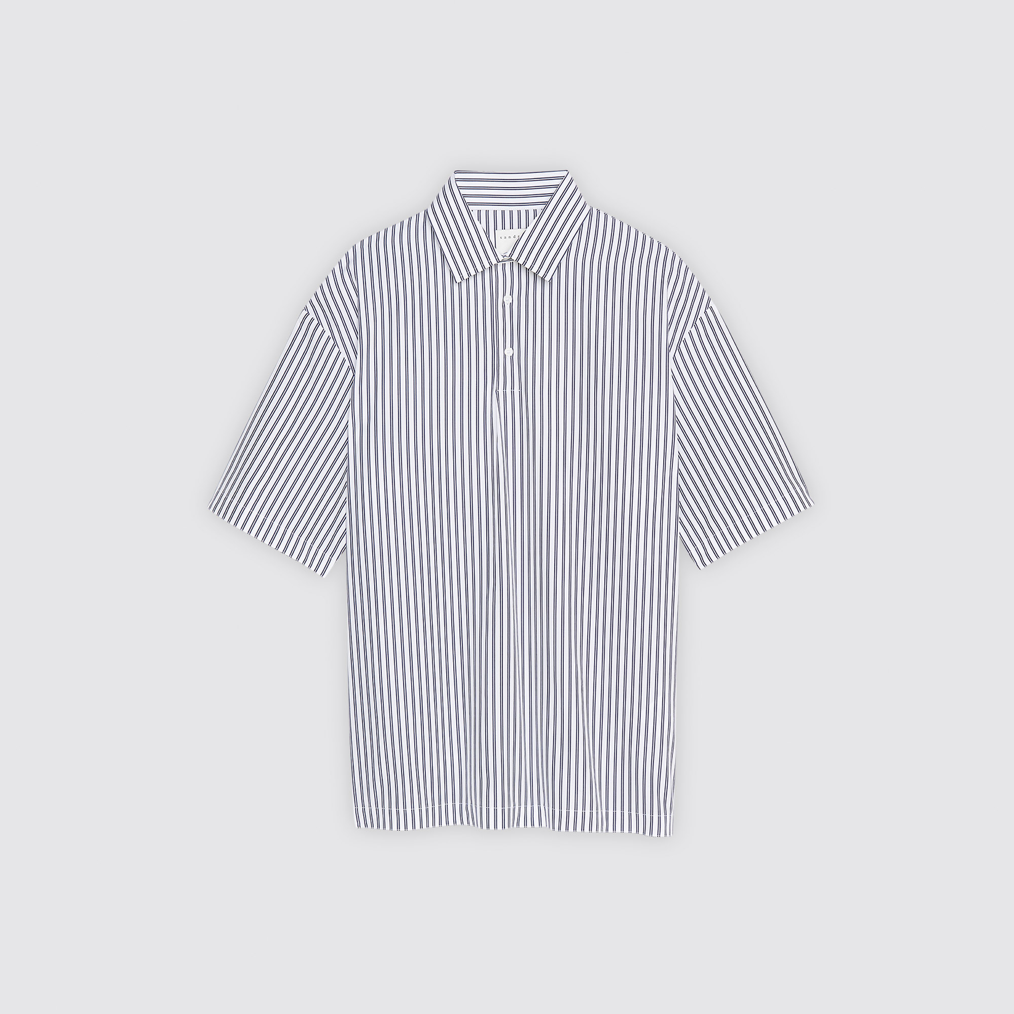Camicia a maniche corte a righe : Collezione Estiva colore Bianco/Blu