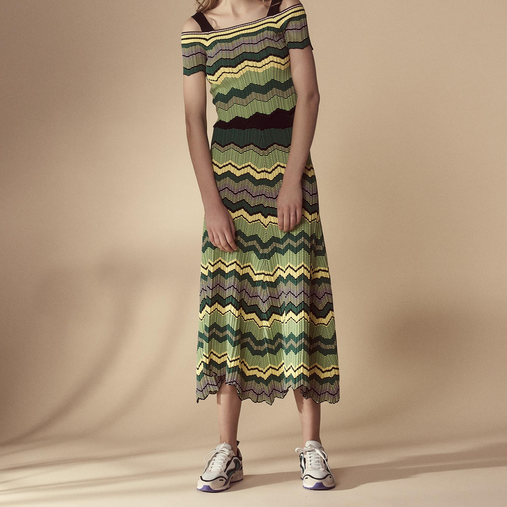 Gonna lunga in maglia : Gonne & Short colore Giallo pallido