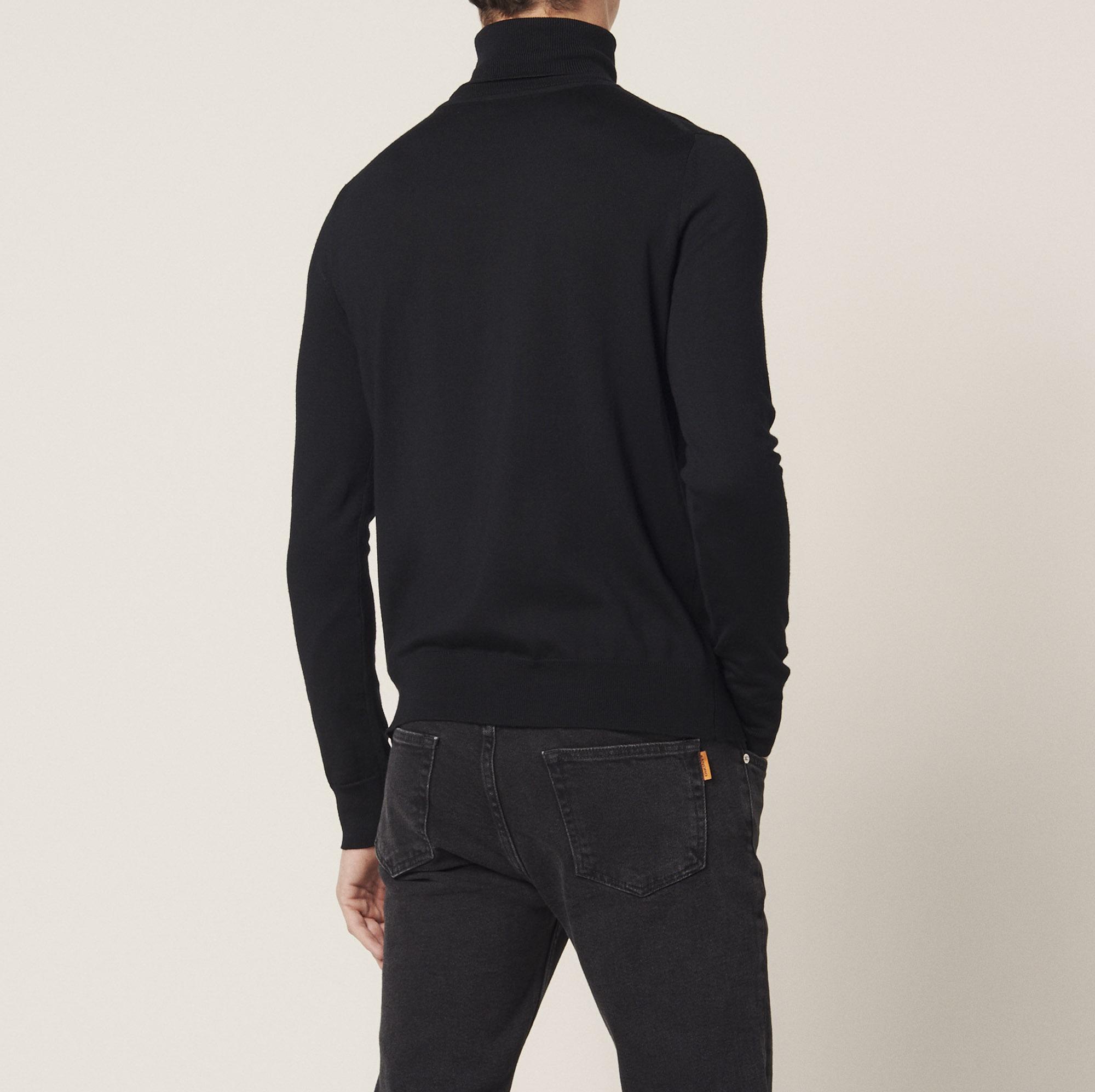 Pullover a collo alto in lana : Collezione Estiva colore Nero