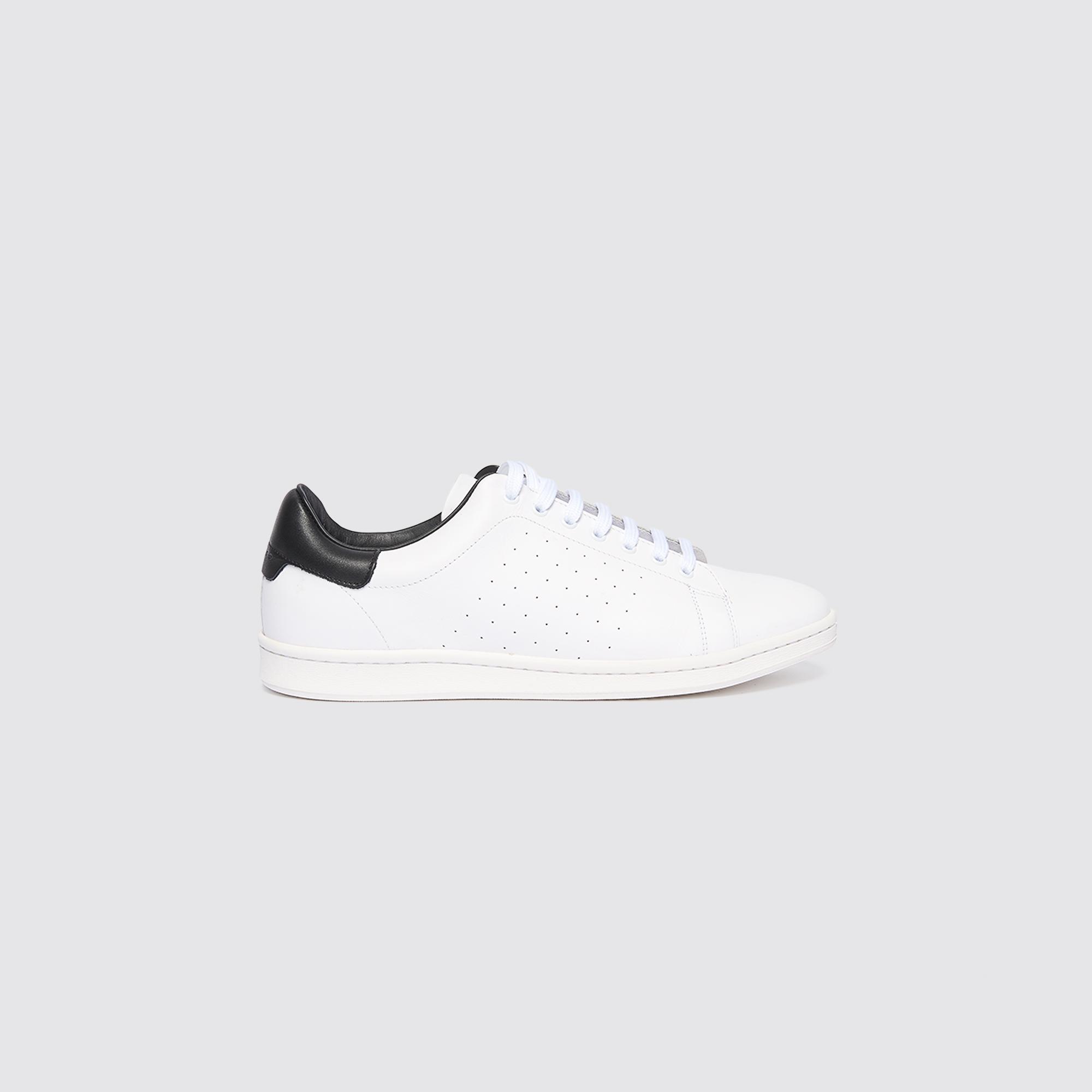 Sneaker basse in pelle liscia : Scarpe colore Bianco/Nero