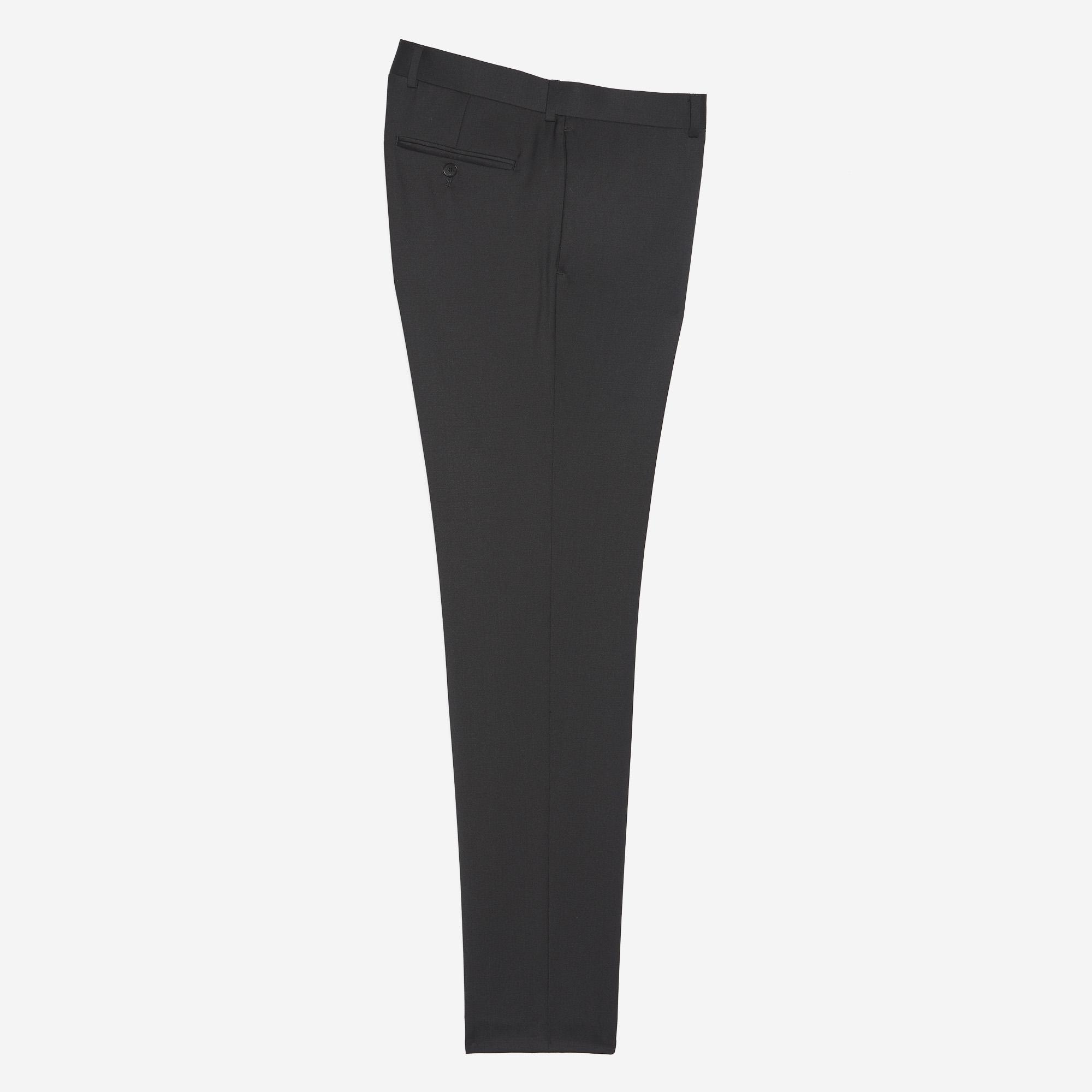 Pantaloni slim fit in lana : Abiti & Smoking colore Nero
