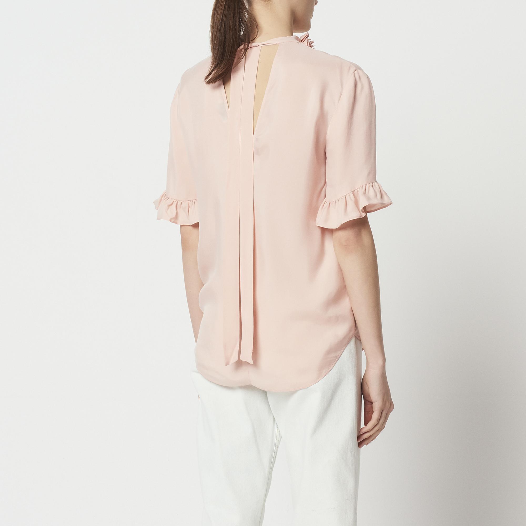 Top con fiore intorno al collo : Top & Camicie colore Blush