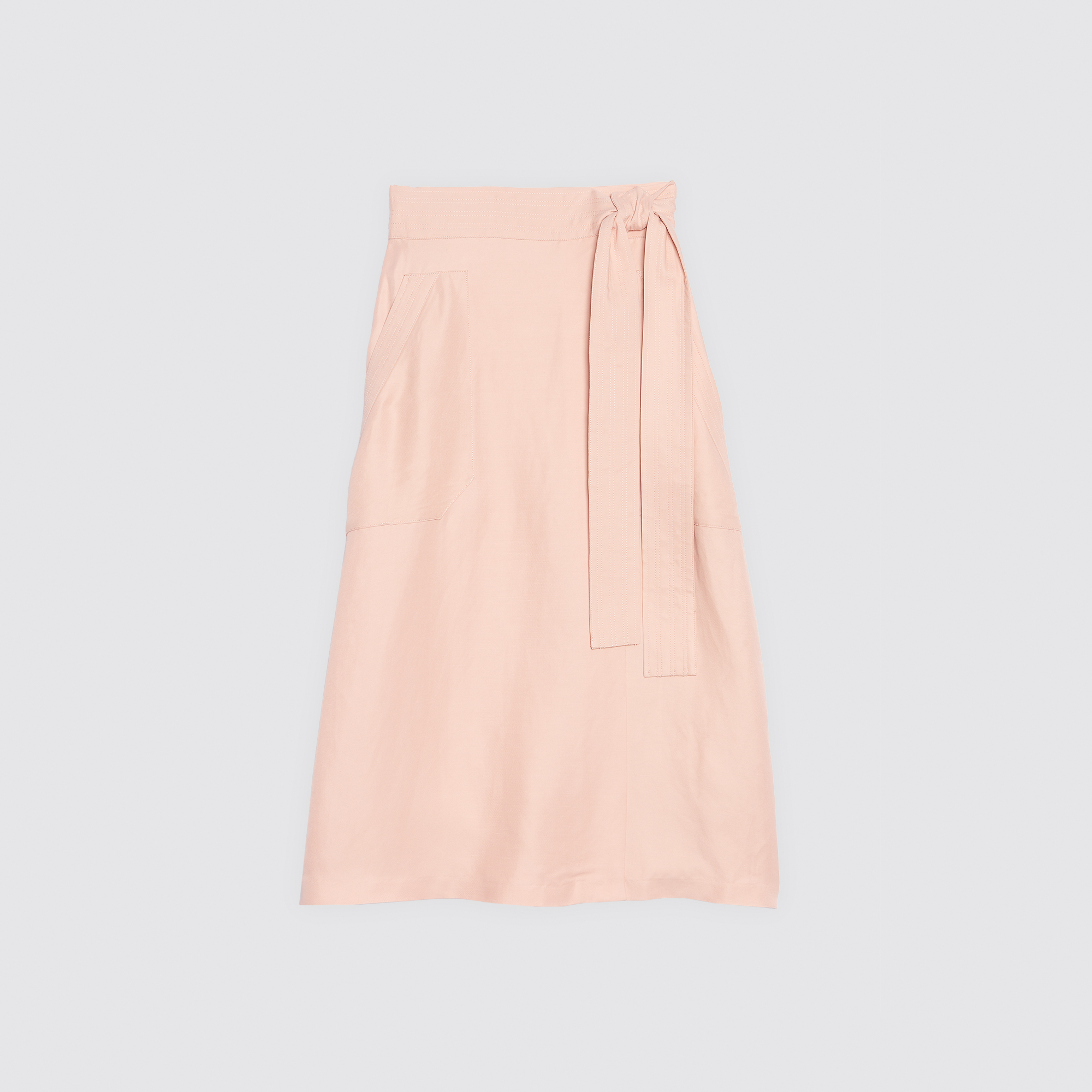 Gonna lunga con cintura : Gonne & Short colore Cipria