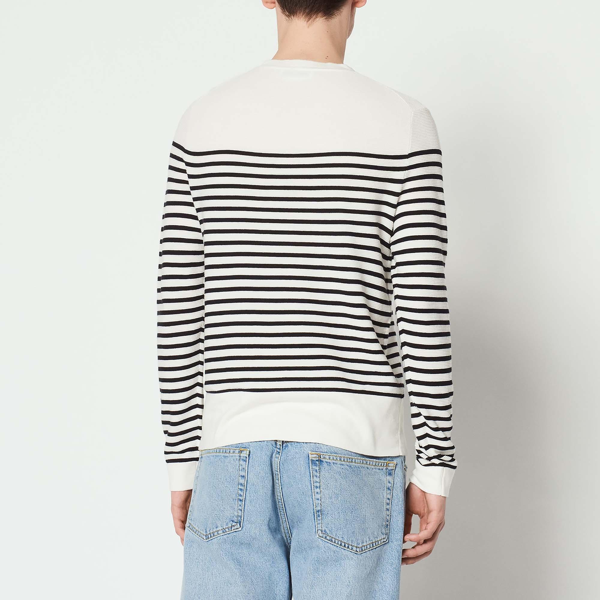 Pullover a righe effetto maglia : Collezione Estiva colore Ecru