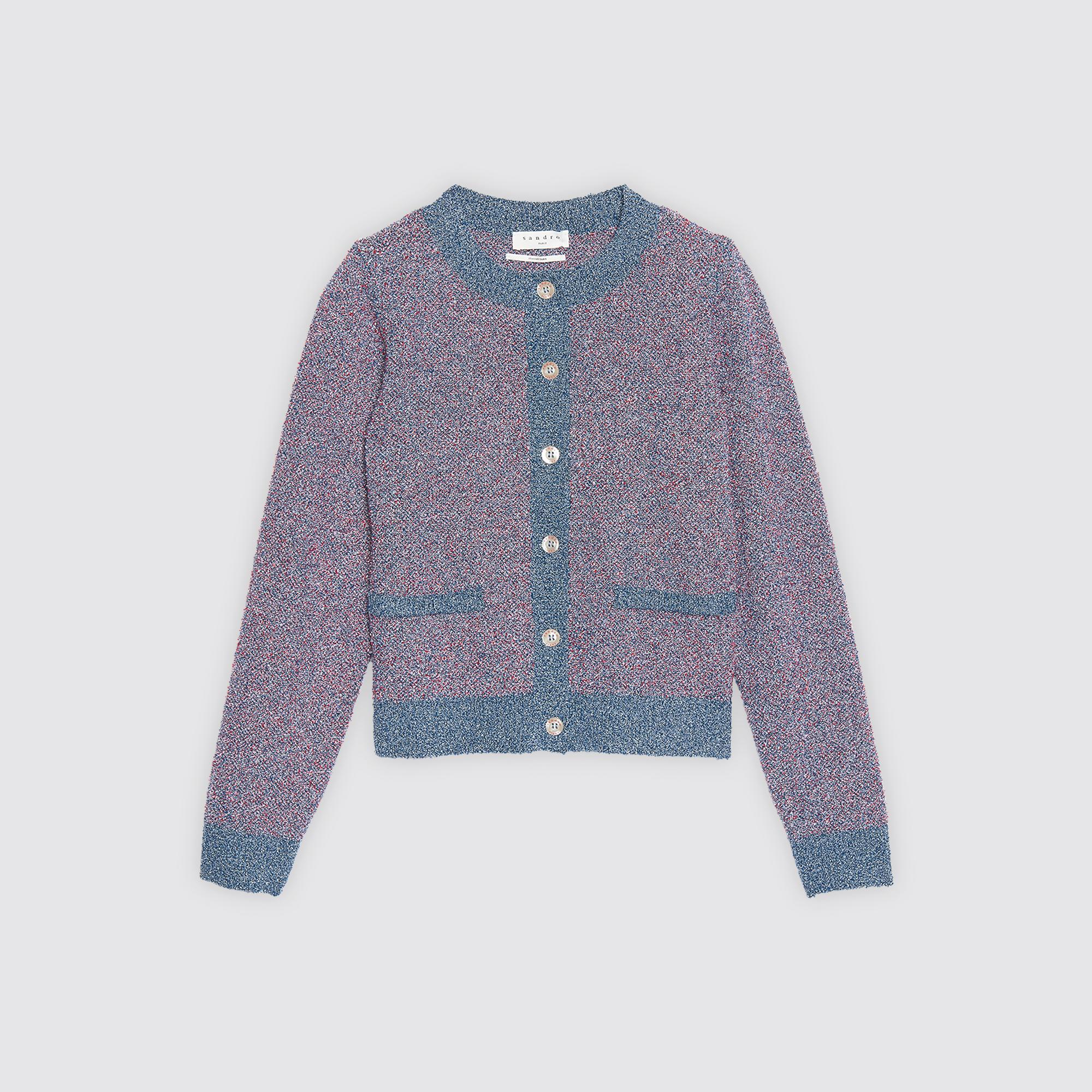 Cardigan corto in maglia e lurex : Collezione Estiva colore Viola