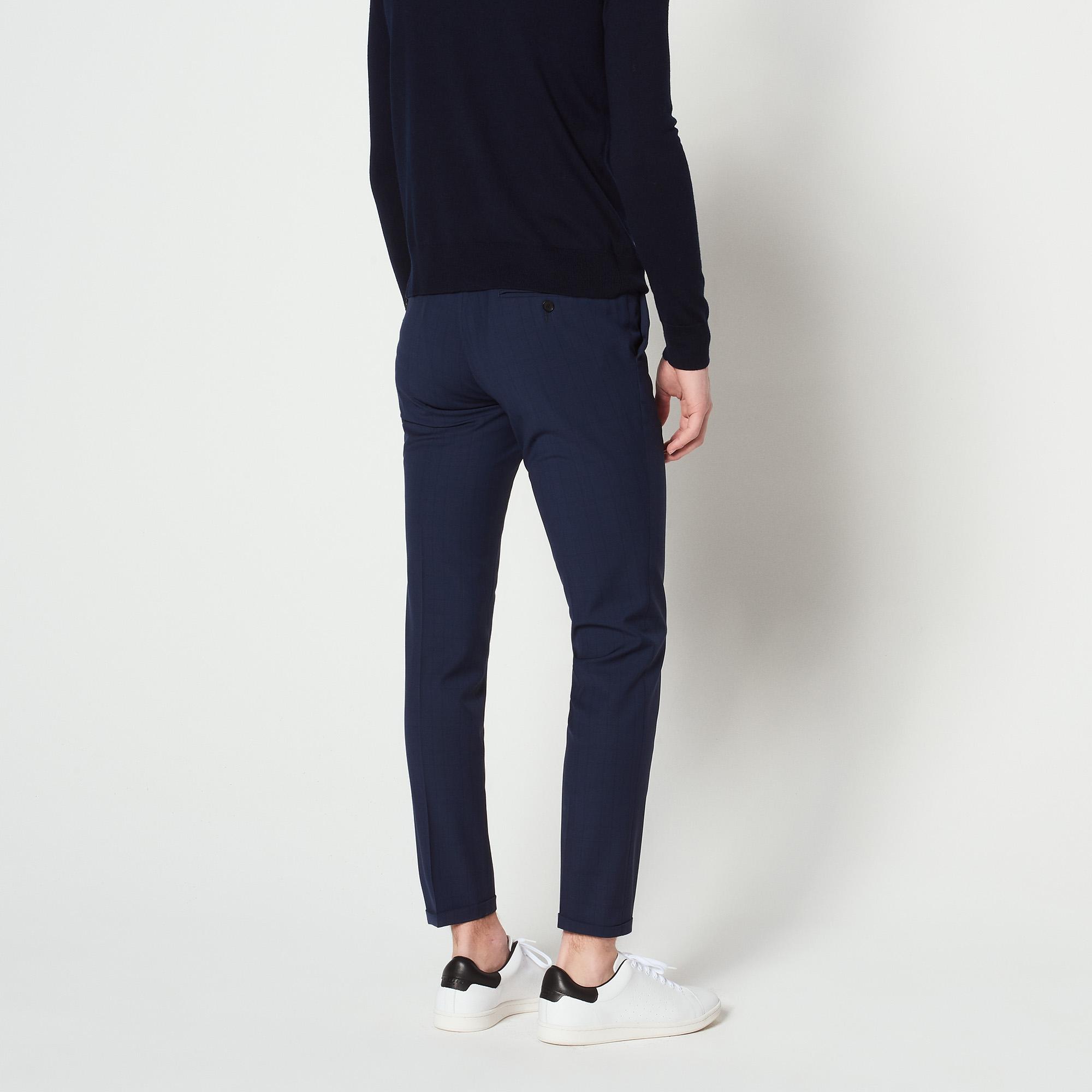 Pantaloni da completo Principe di Galles : Abiti & Smoking colore Grigio blu