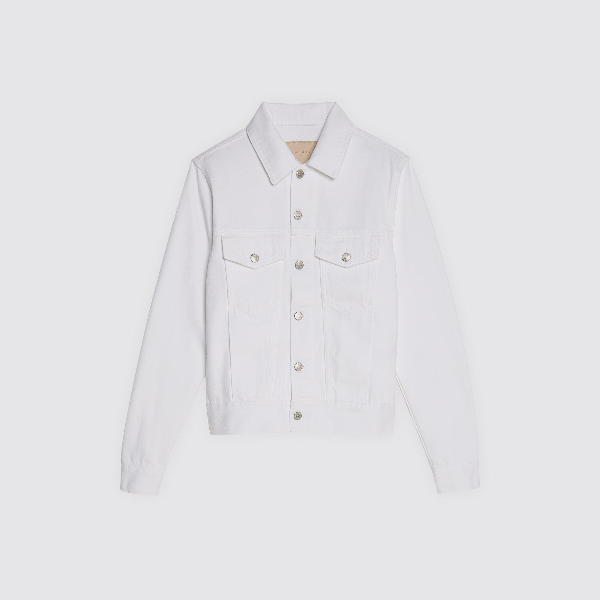 Giacca in denim bianco : Collezione Estiva colore Bianco