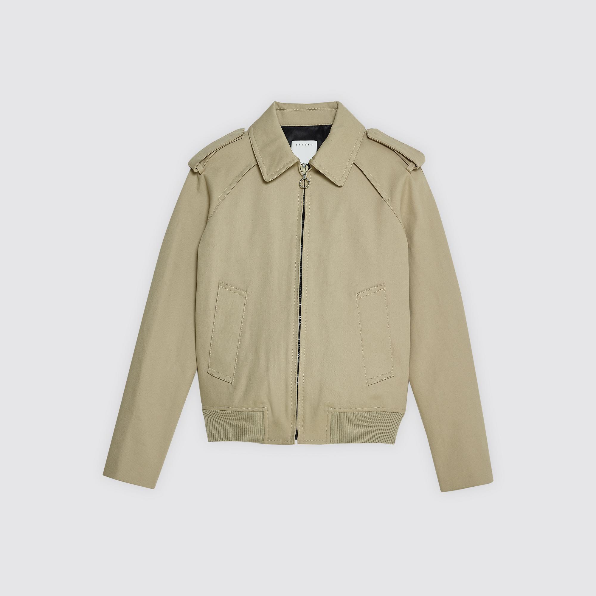 Giubbotto modello Harrington con zip : Giubbotti & Giacche colore Beige