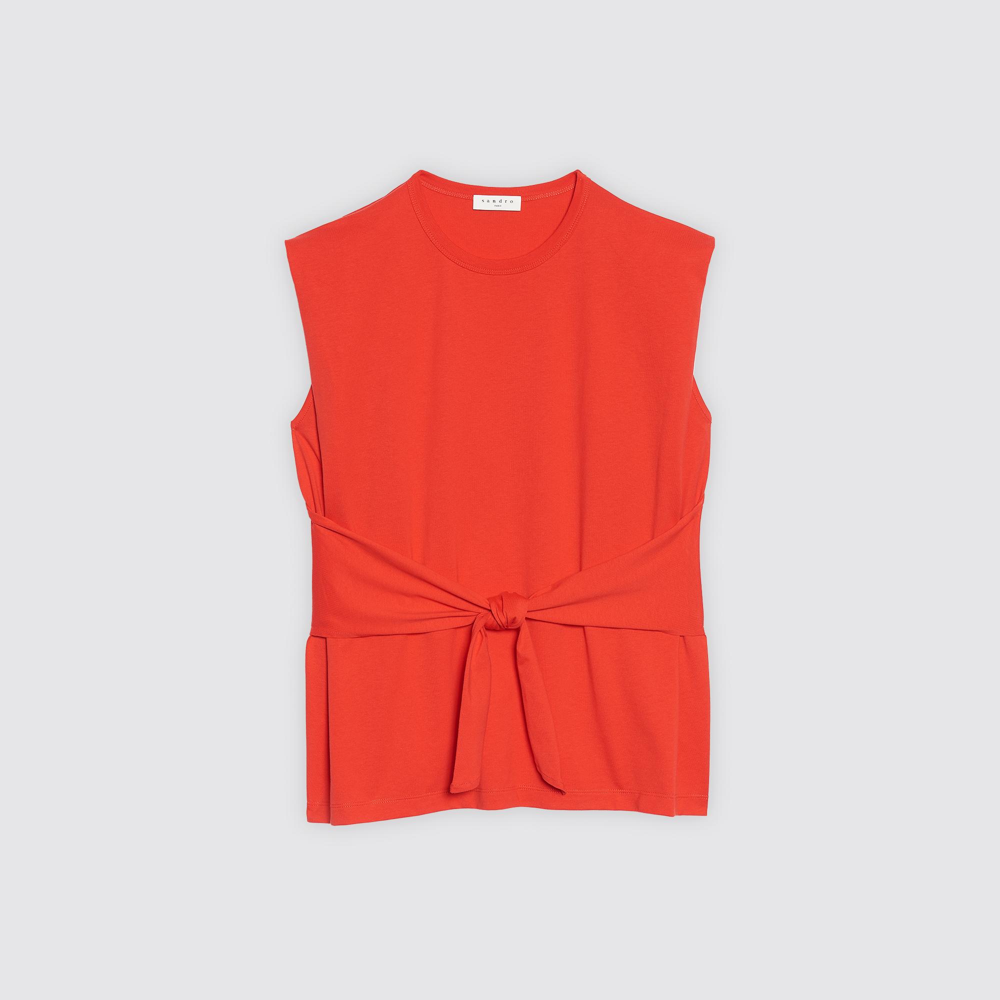 T-shirt con cintura : Collezione Estiva colore Rosso Ciliegia