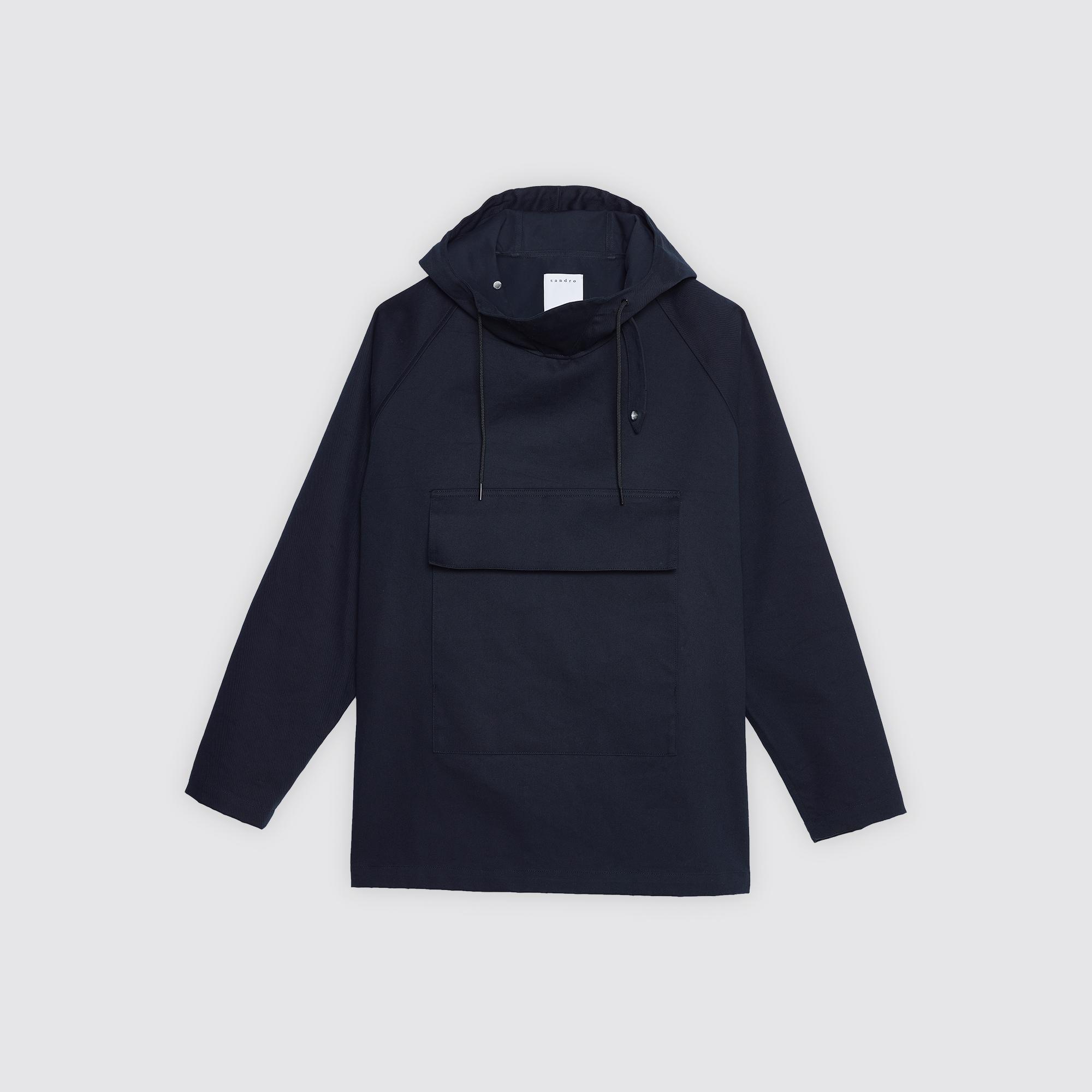 Cappotto tipo giubba in tessuto tecnico : Trench & Cappotti colore Blu Marino