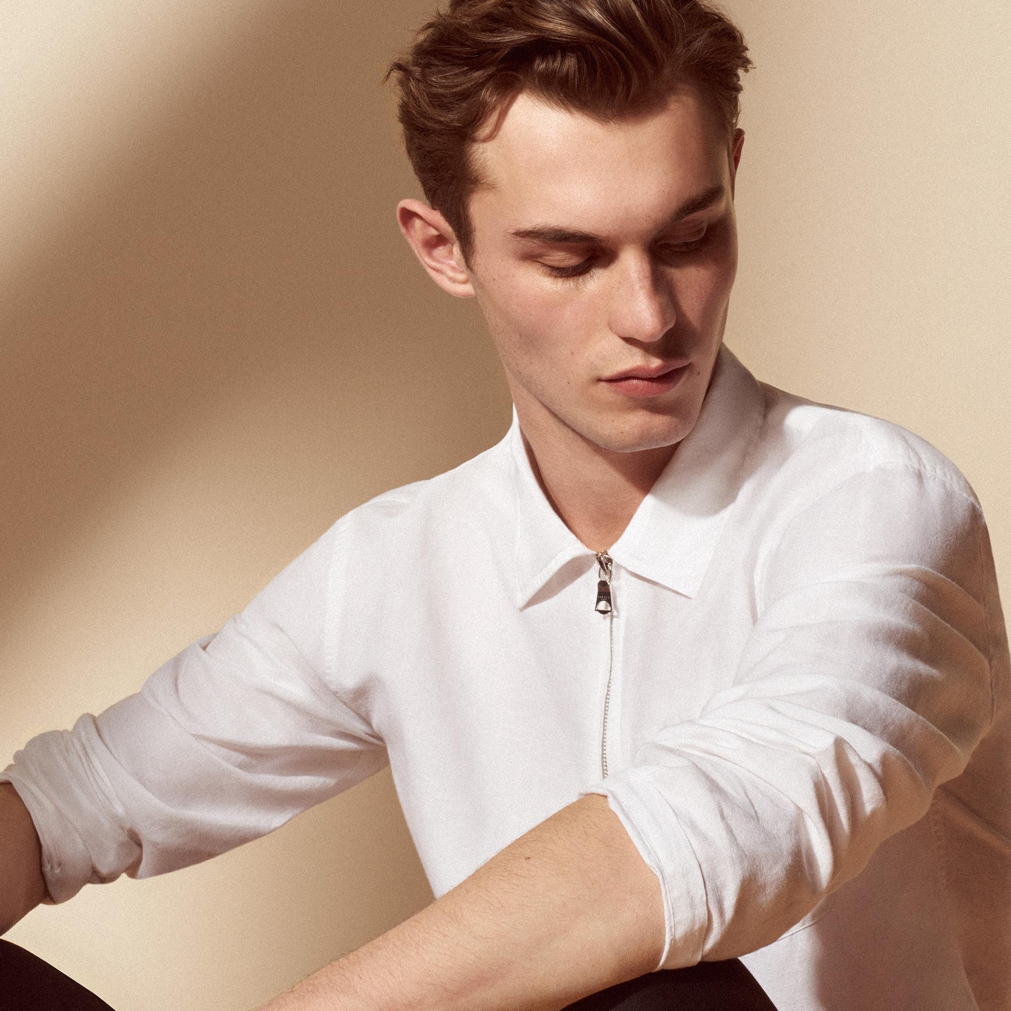 Camicia in lino a maniche lunghe : Sandro x Mr Porter colore Bianco