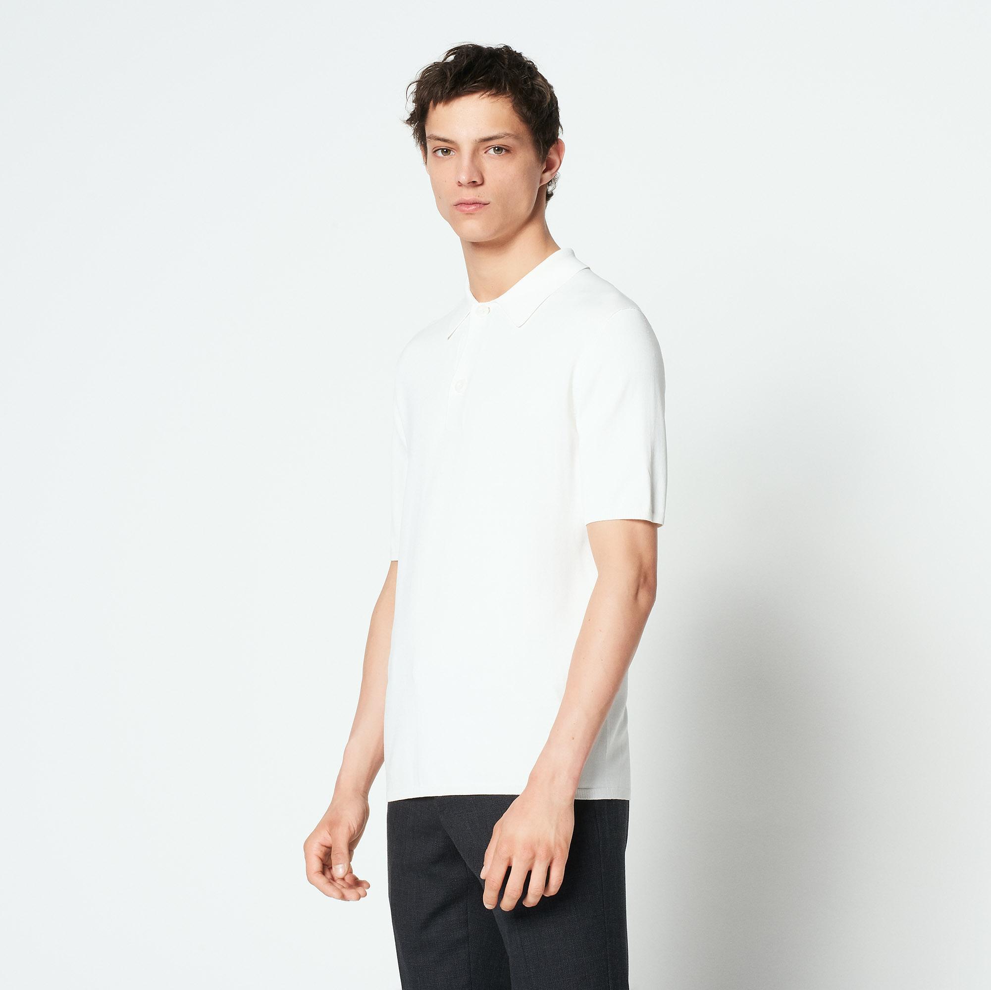 Polo a maniche corte in maglia : Magliette & Polo colore Ecru