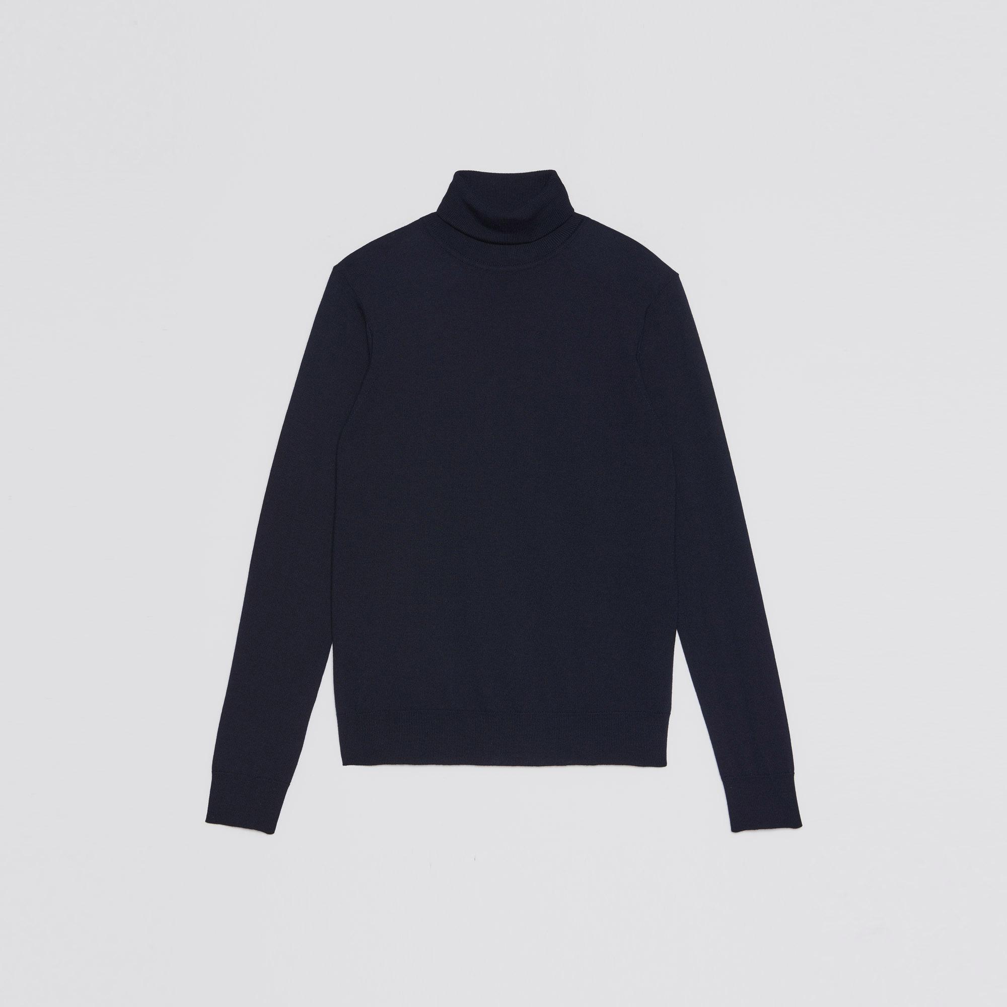 Pullover a collo alto in lana : Collezione Estiva colore Blu Marino