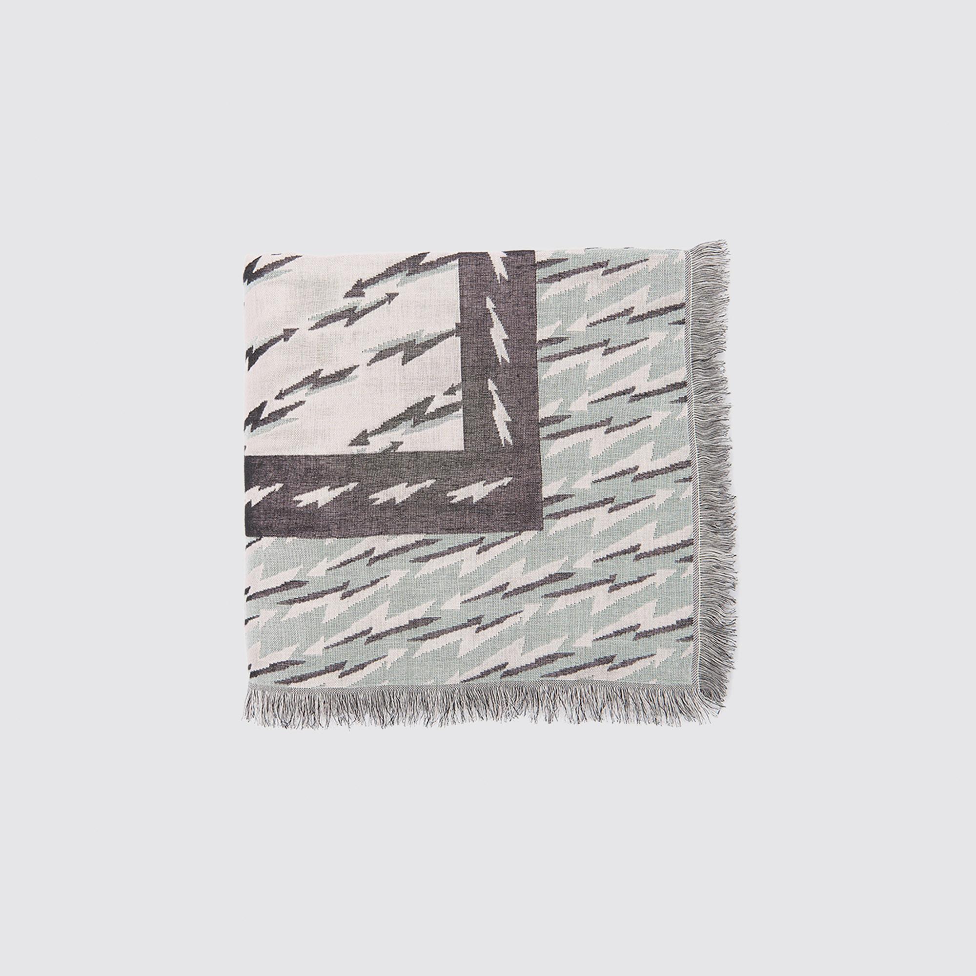 Foulard misto cotone con stampa fulmini : Collezione Estiva colore Nero