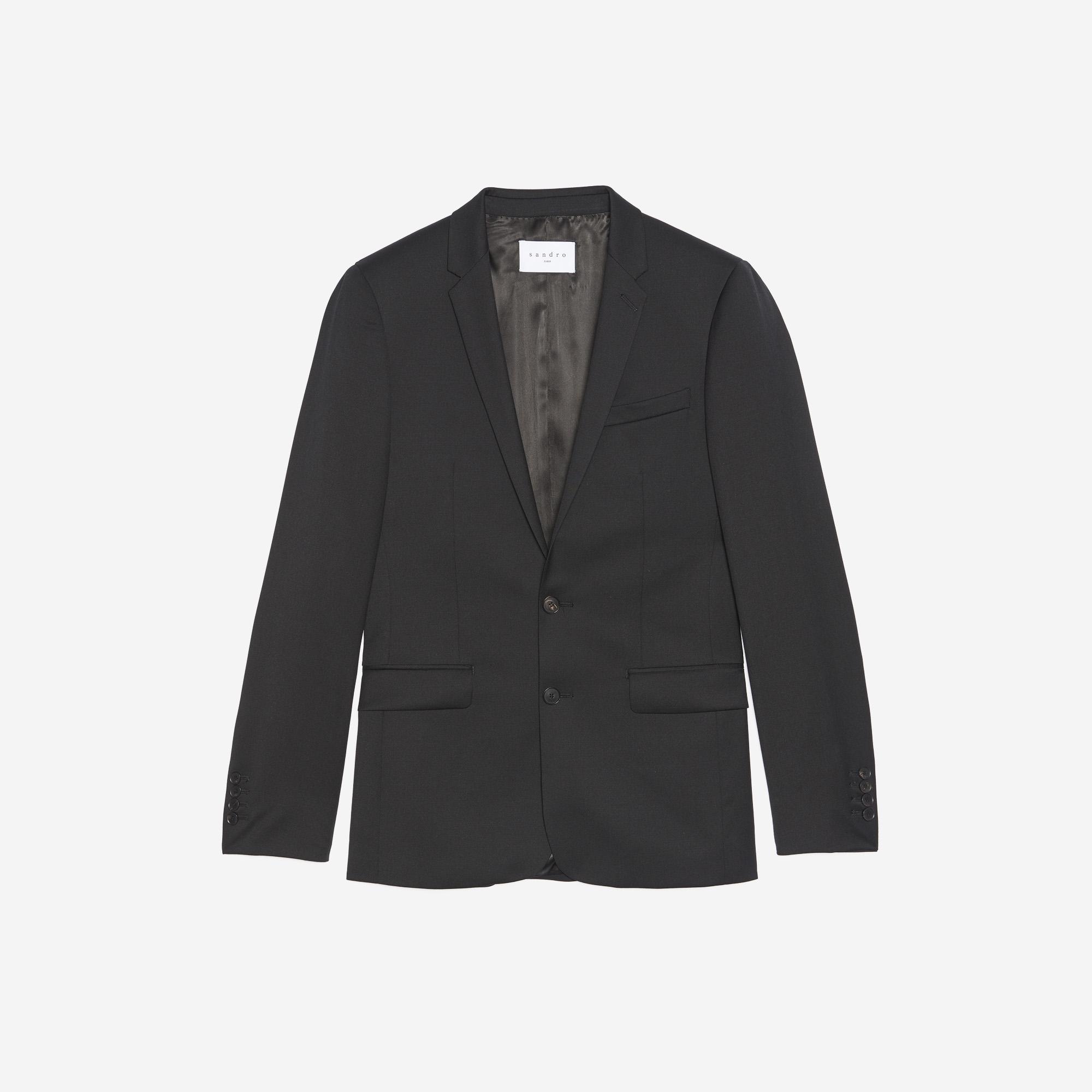 Giacca slim fit in lana : Abiti & Smoking colore Nero