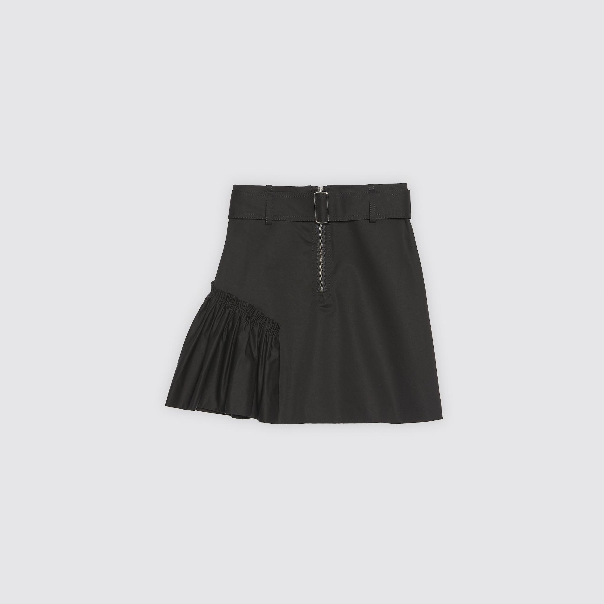 Gonna corta svasata con cintura : Gonne & Short colore Nero