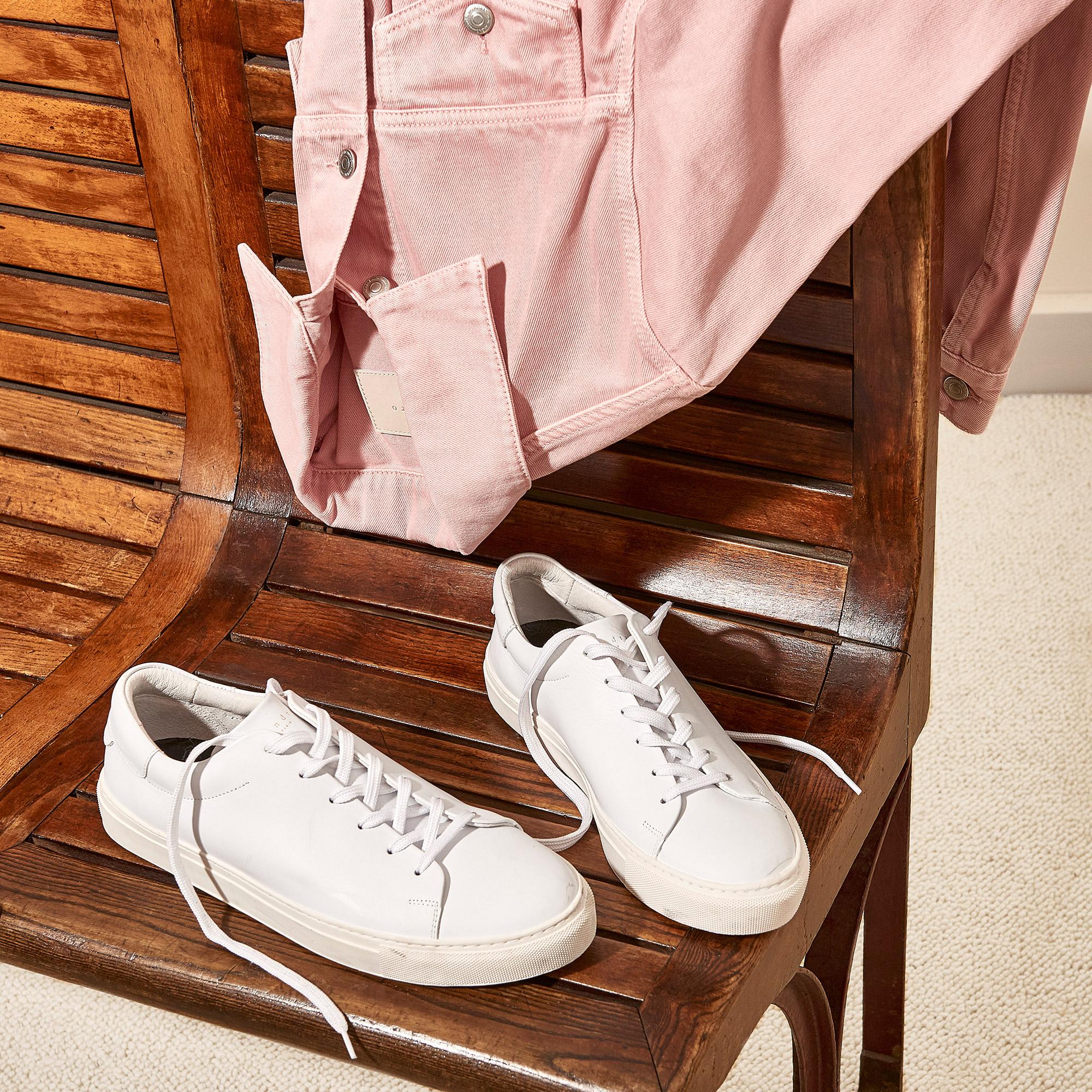 Sneaker basse in pelle liscia : Collezione Estiva colore Blu Marino