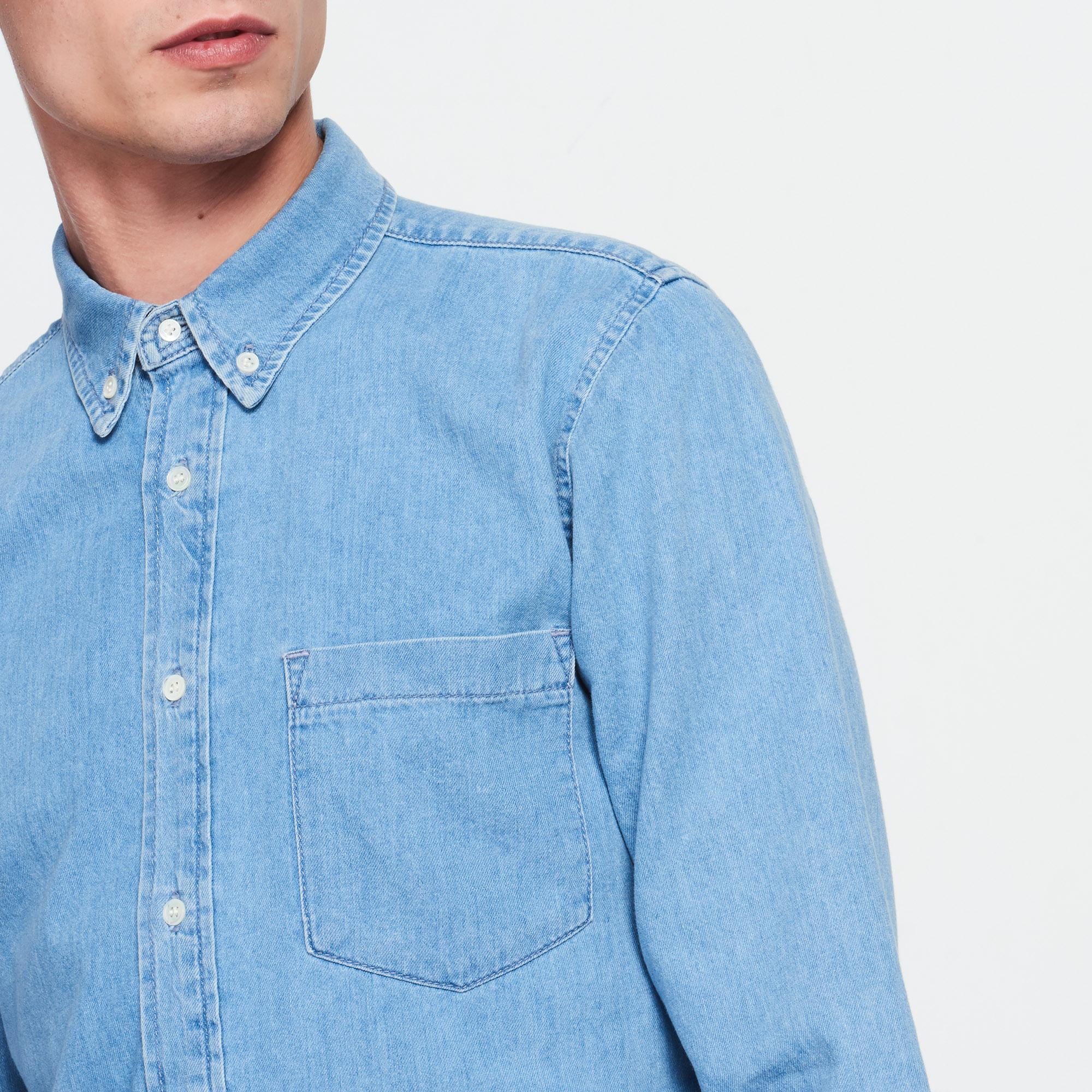 Camicia vintage in jeans : Collezione Estiva colore Blue Vintage - Denim
