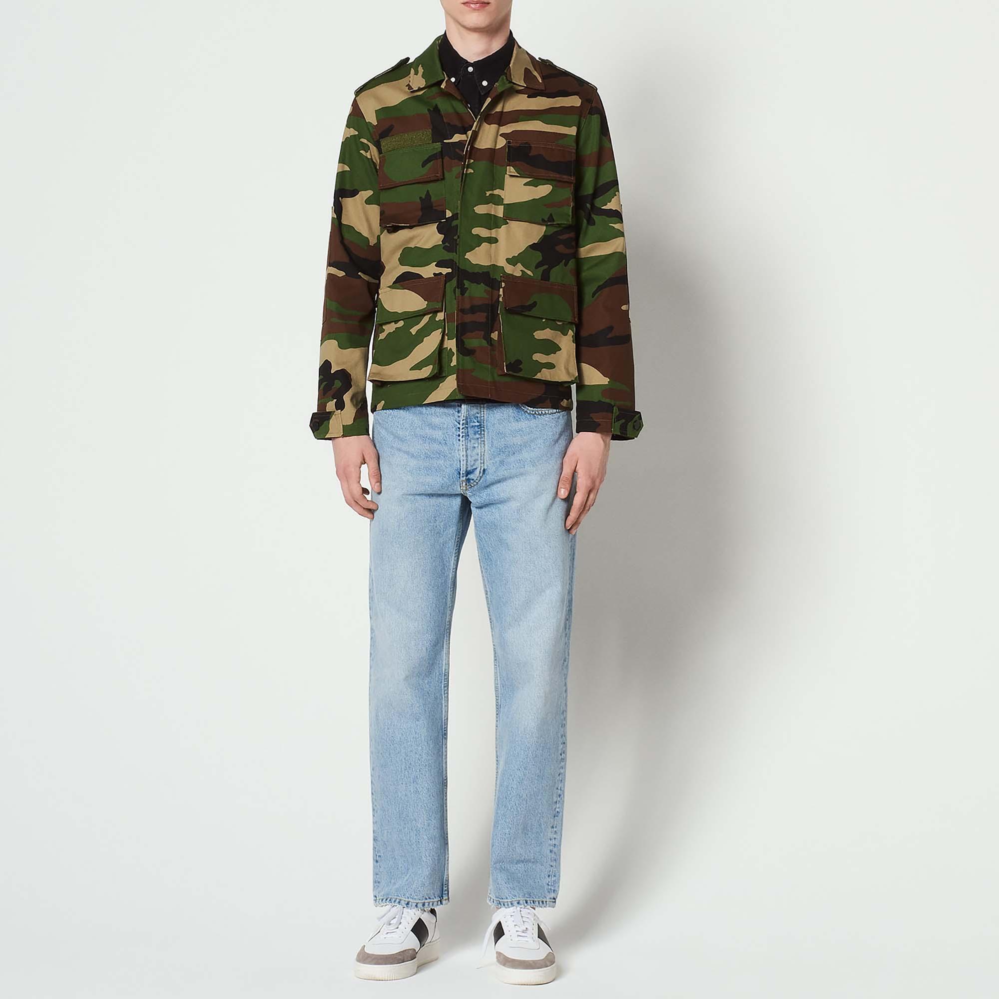 Giacca con stampa camouflage : Giubbotti & Giacche colore Cachi