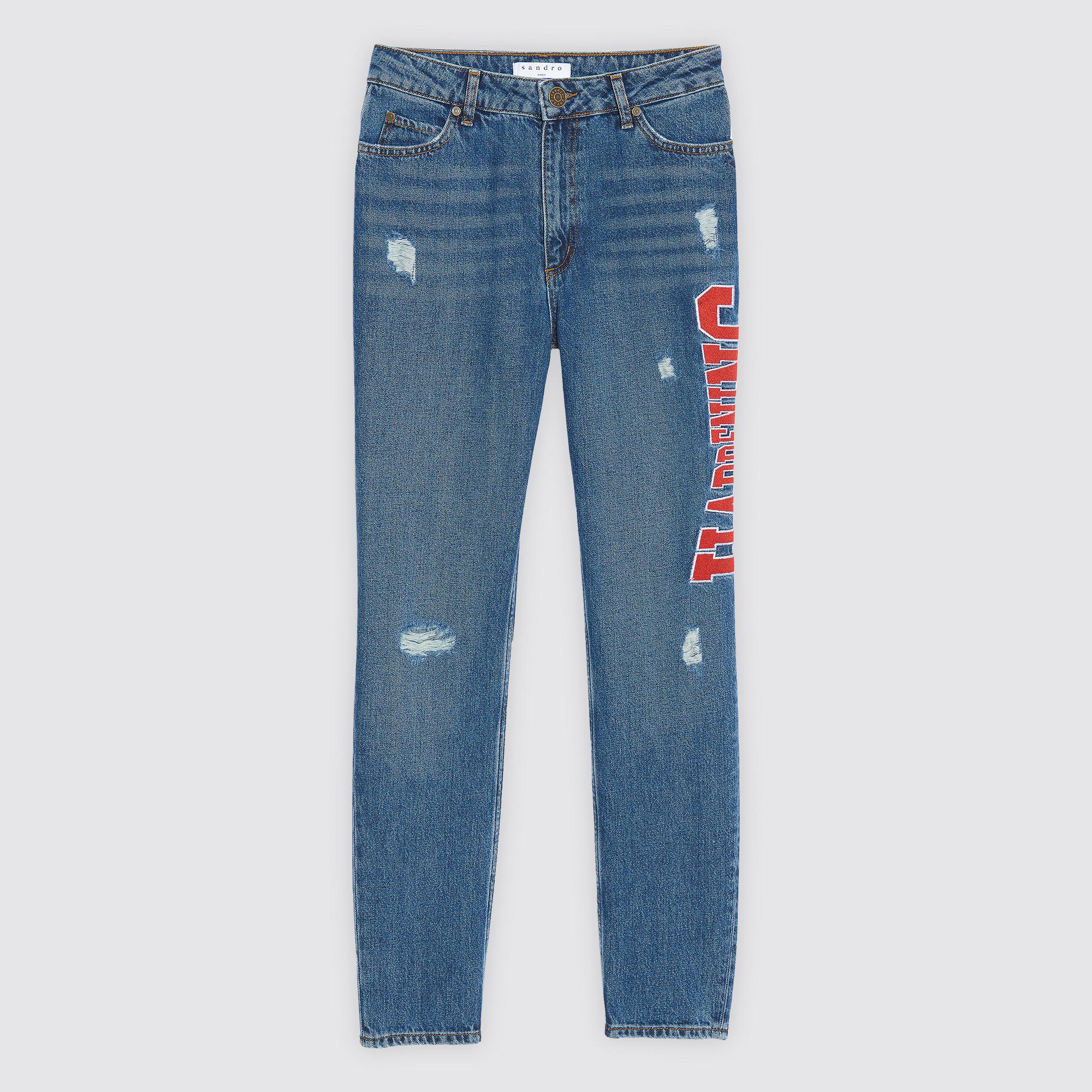 Jeans con ricamo laterale : Collezione Estiva colore Blue Vintage - Denim