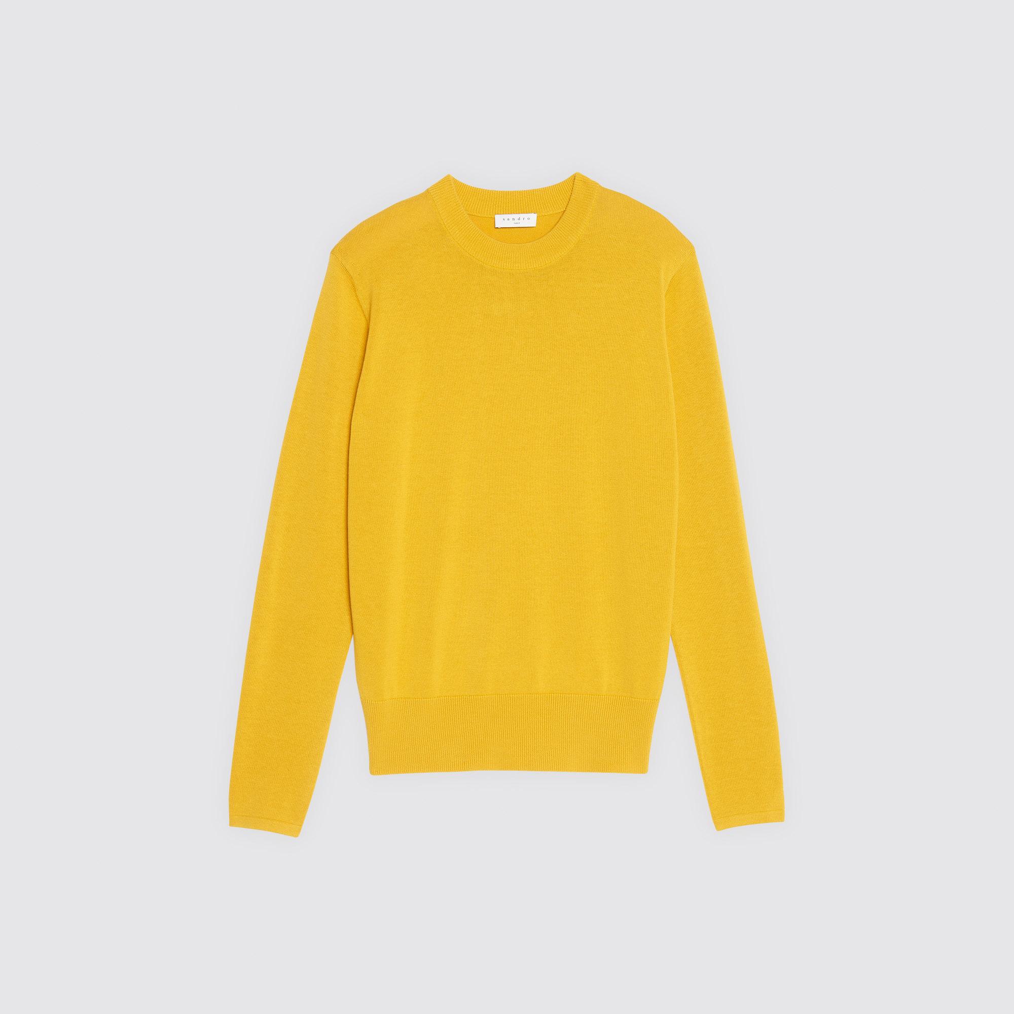 Pullover girocollo in maglia sottile : Maglioni & Cardigan colore Giallo