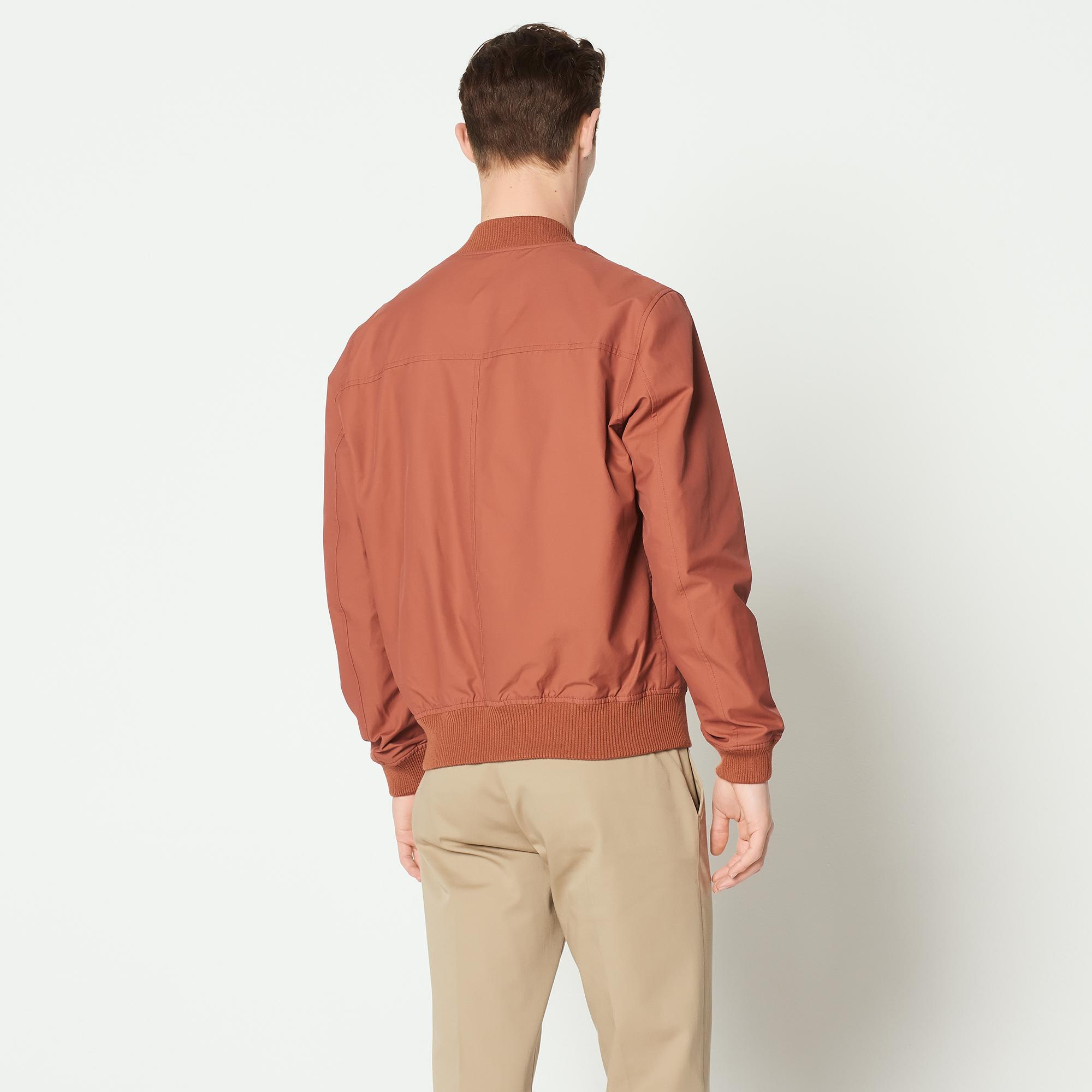 Giubbotto con zip stile bomber : Sandro x Mr Porter colore Terracotta