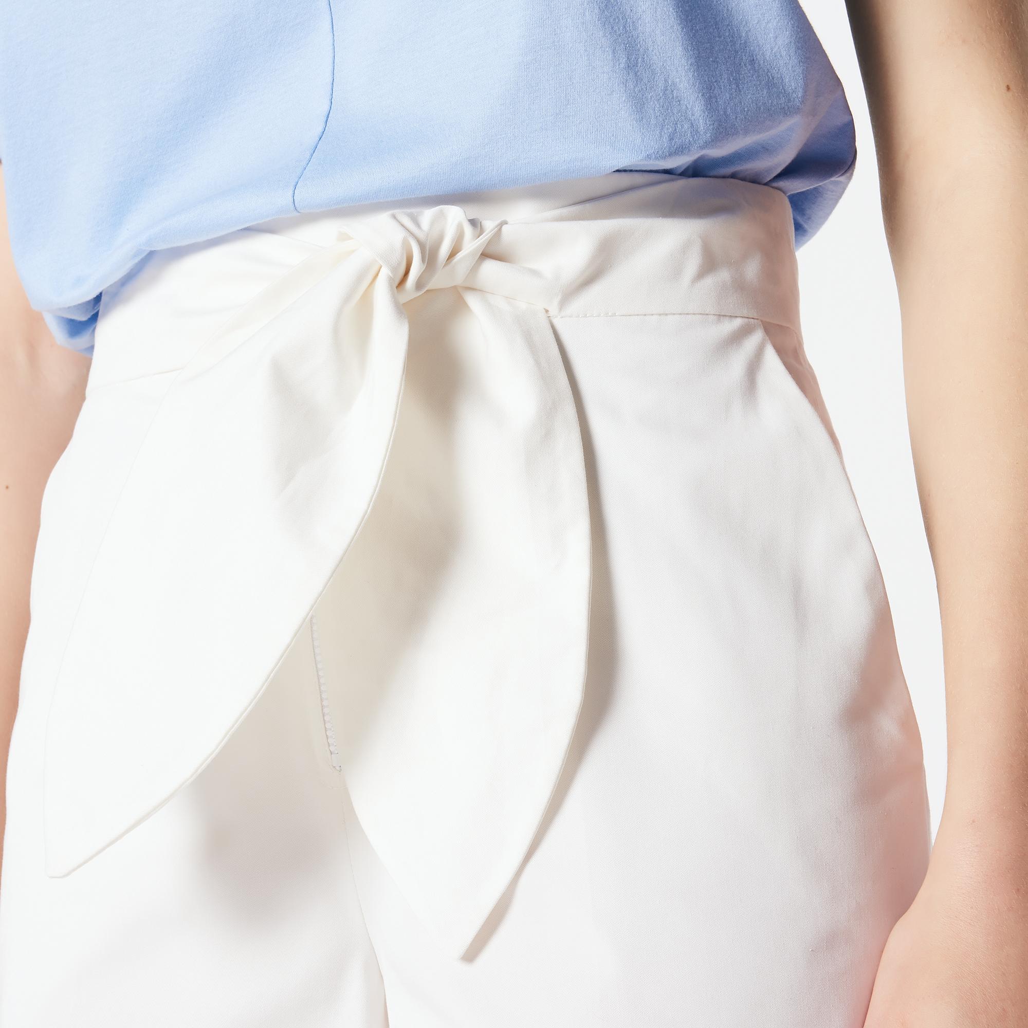 Short a vita alta con cintura : Esclusiva web colore Ecru