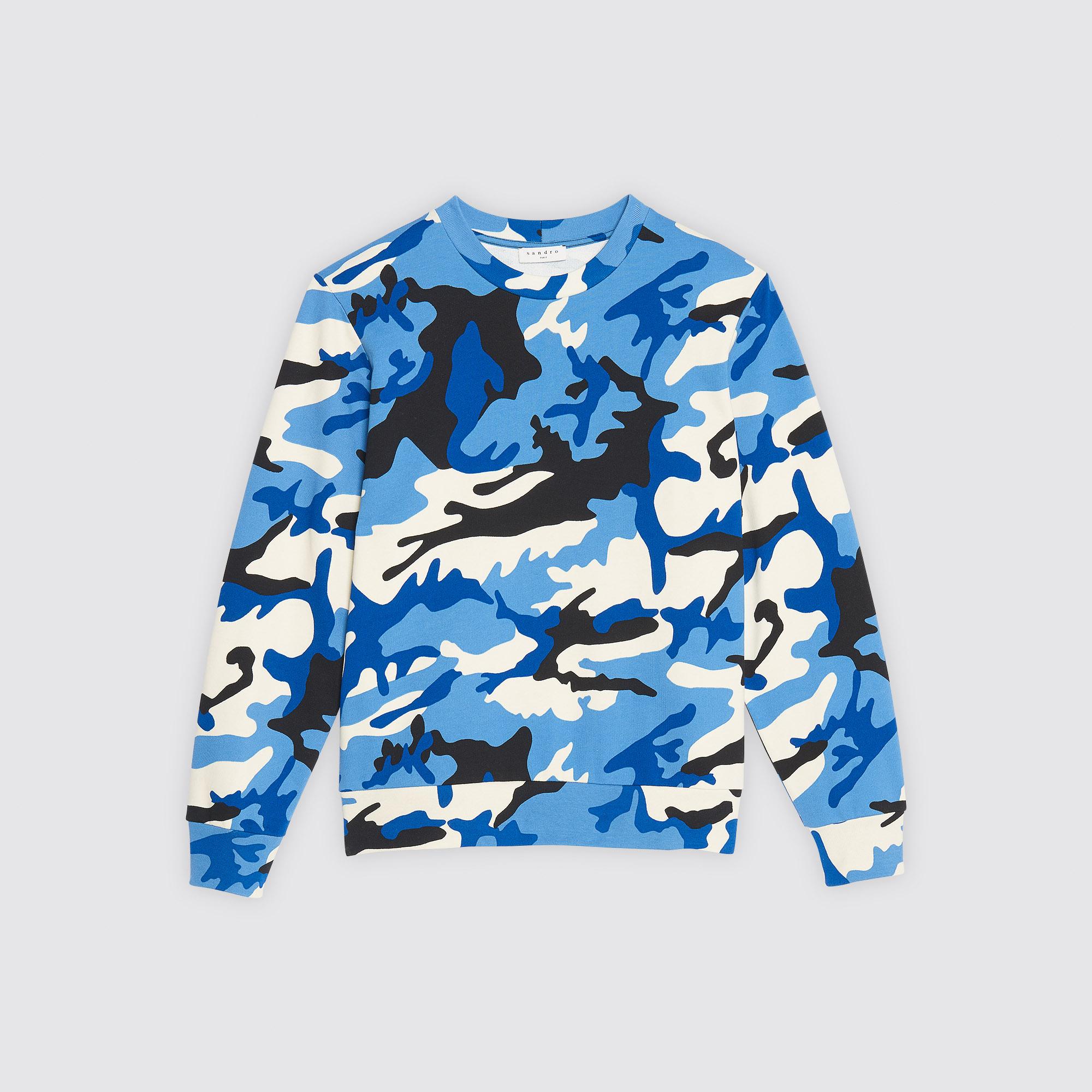Felpa con stampa camouflage : Collezione Estiva colore Blu