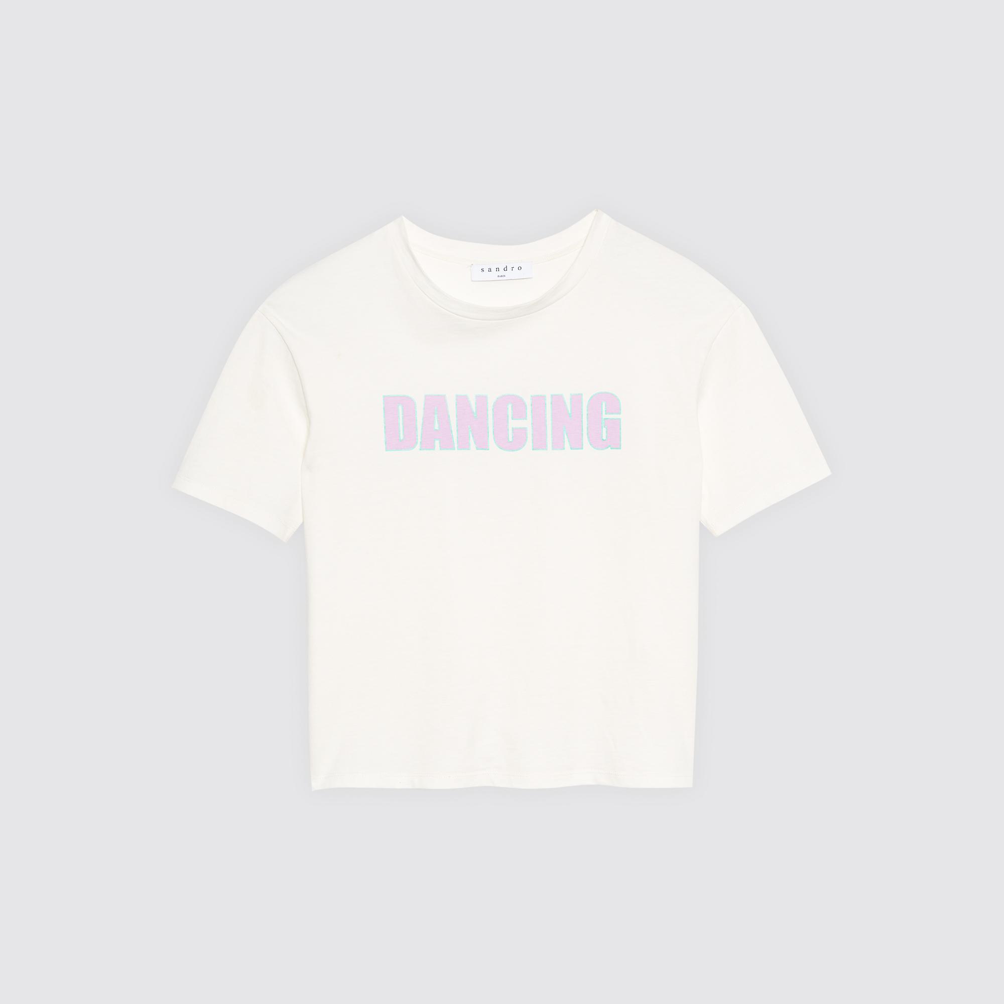 T-shirt con stampa Dancing : Magliette colore Ecru