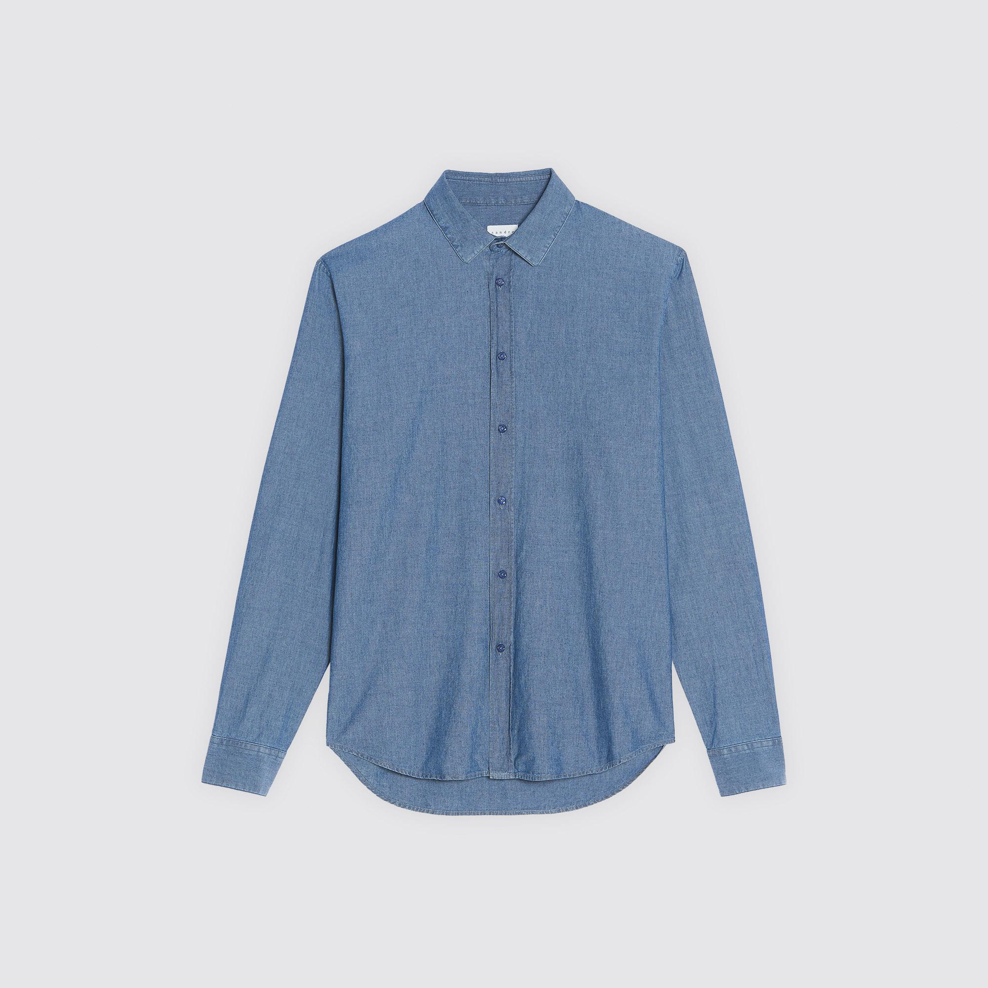 Camicia in chambray : Camicie colore Blue Vintage - Denim