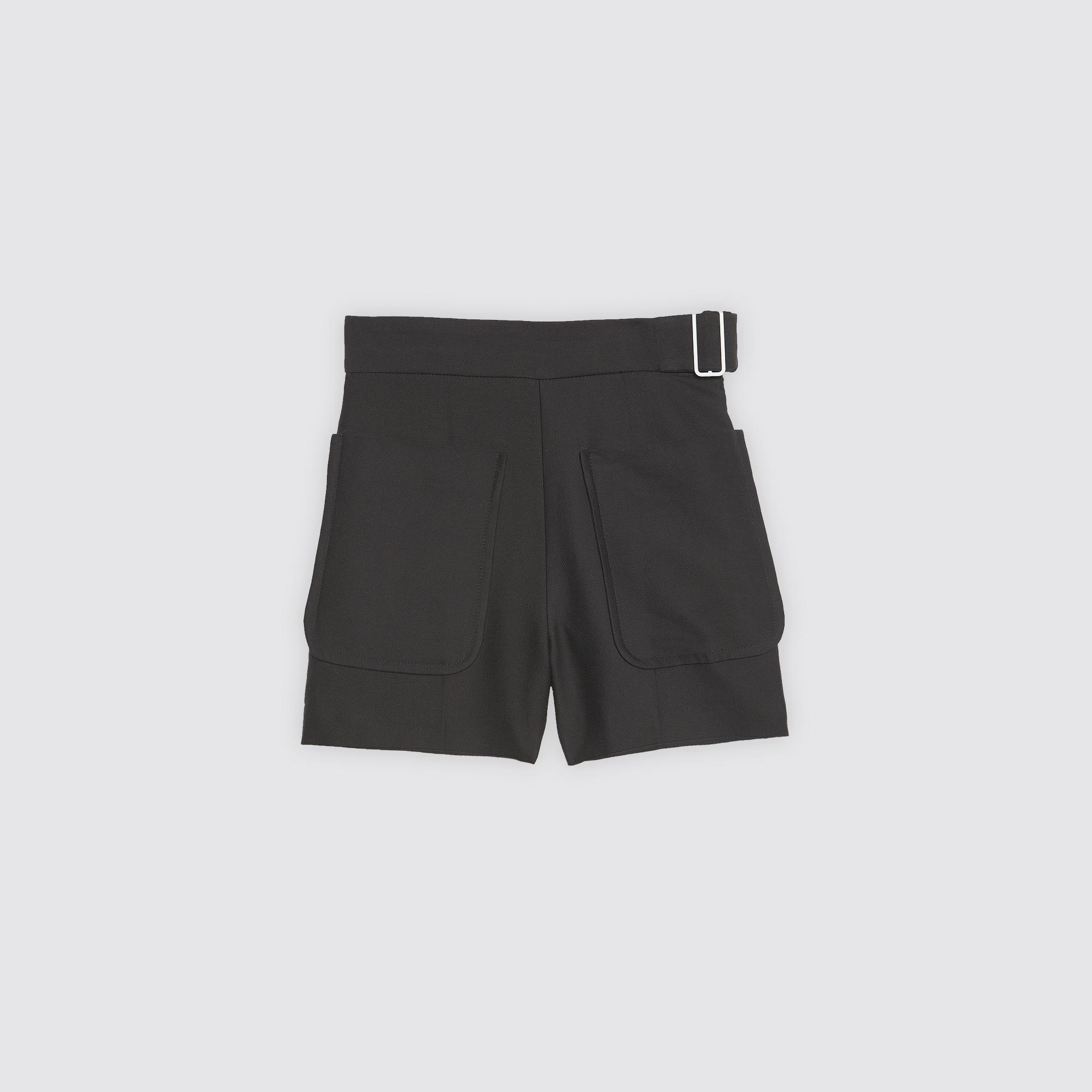 Short a vita alta con cintura : Gonne & Short colore Nero