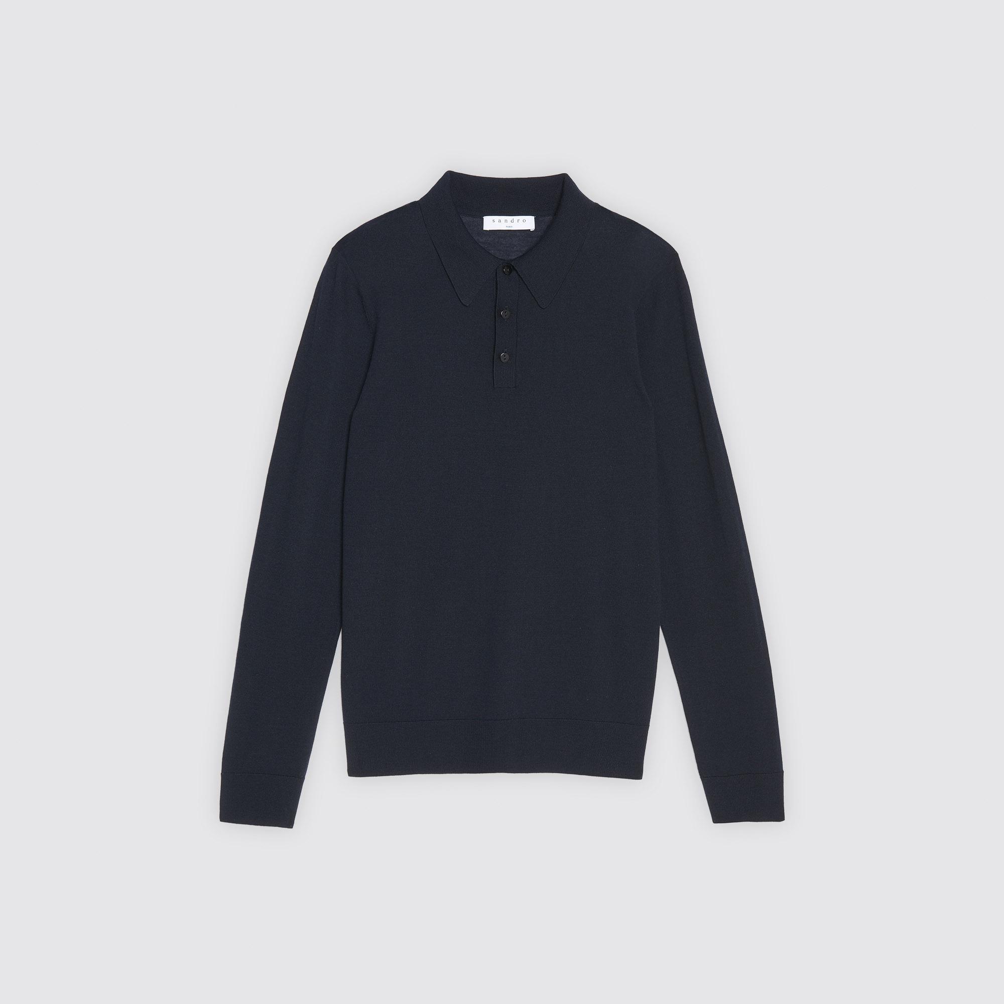 Pullover sottile stile polo : Collezione Estiva colore Blu Marino