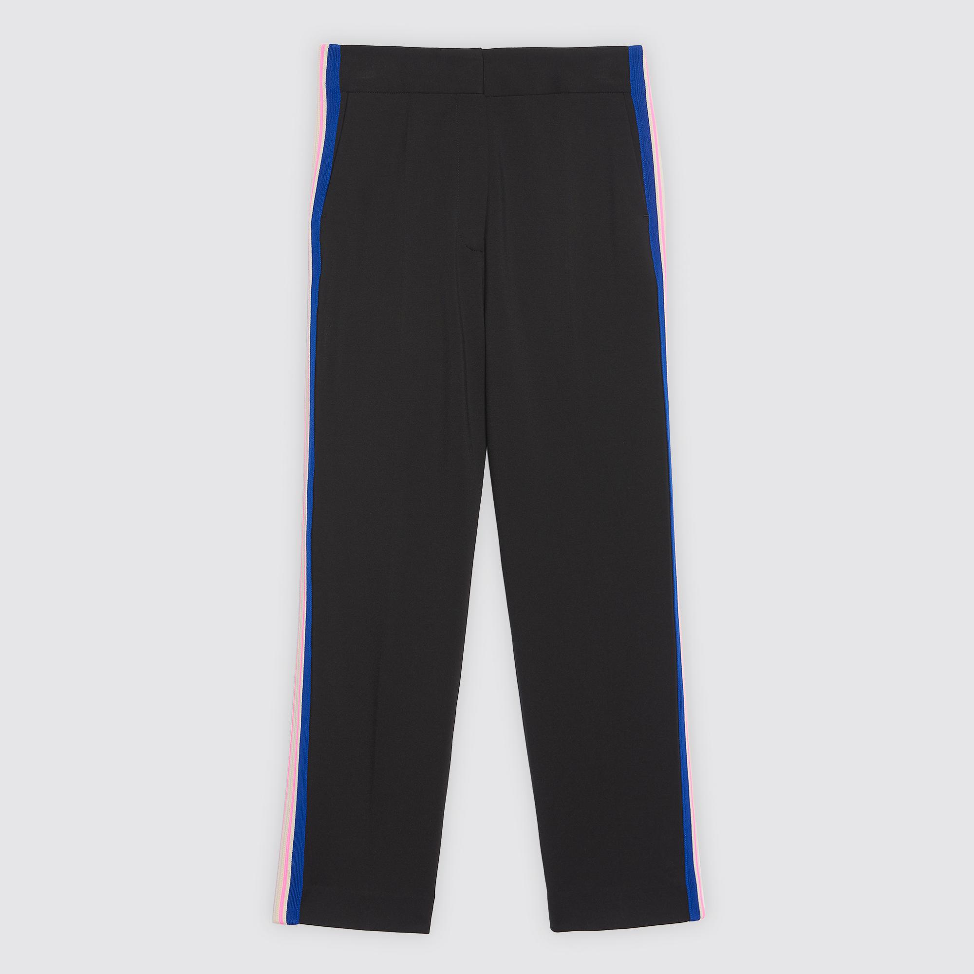 Pantaloni con profilo laterale : Pantaloni colore Nero