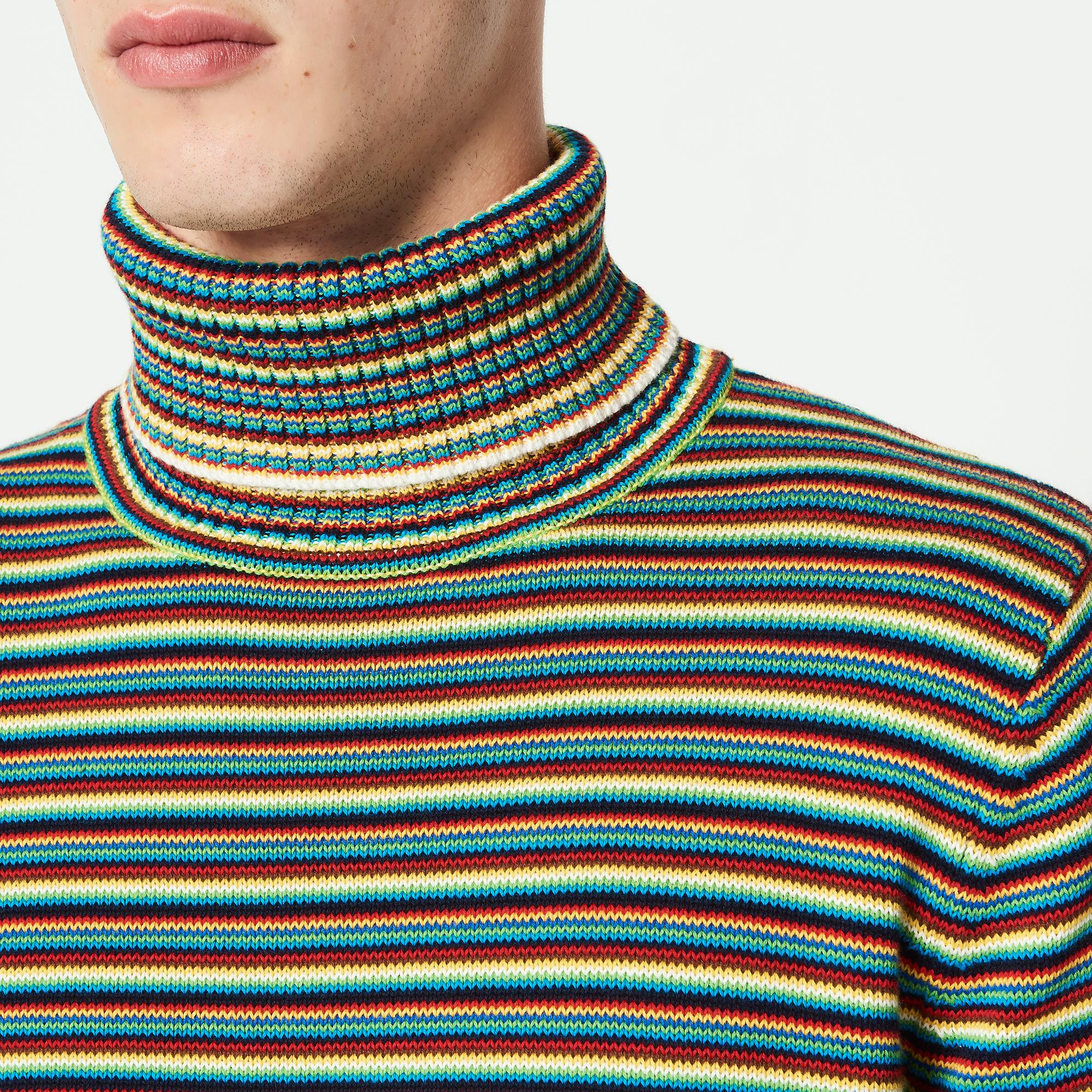 Pullover a collo alto multicolore : Sandro x Mr Porter colore Multicolore